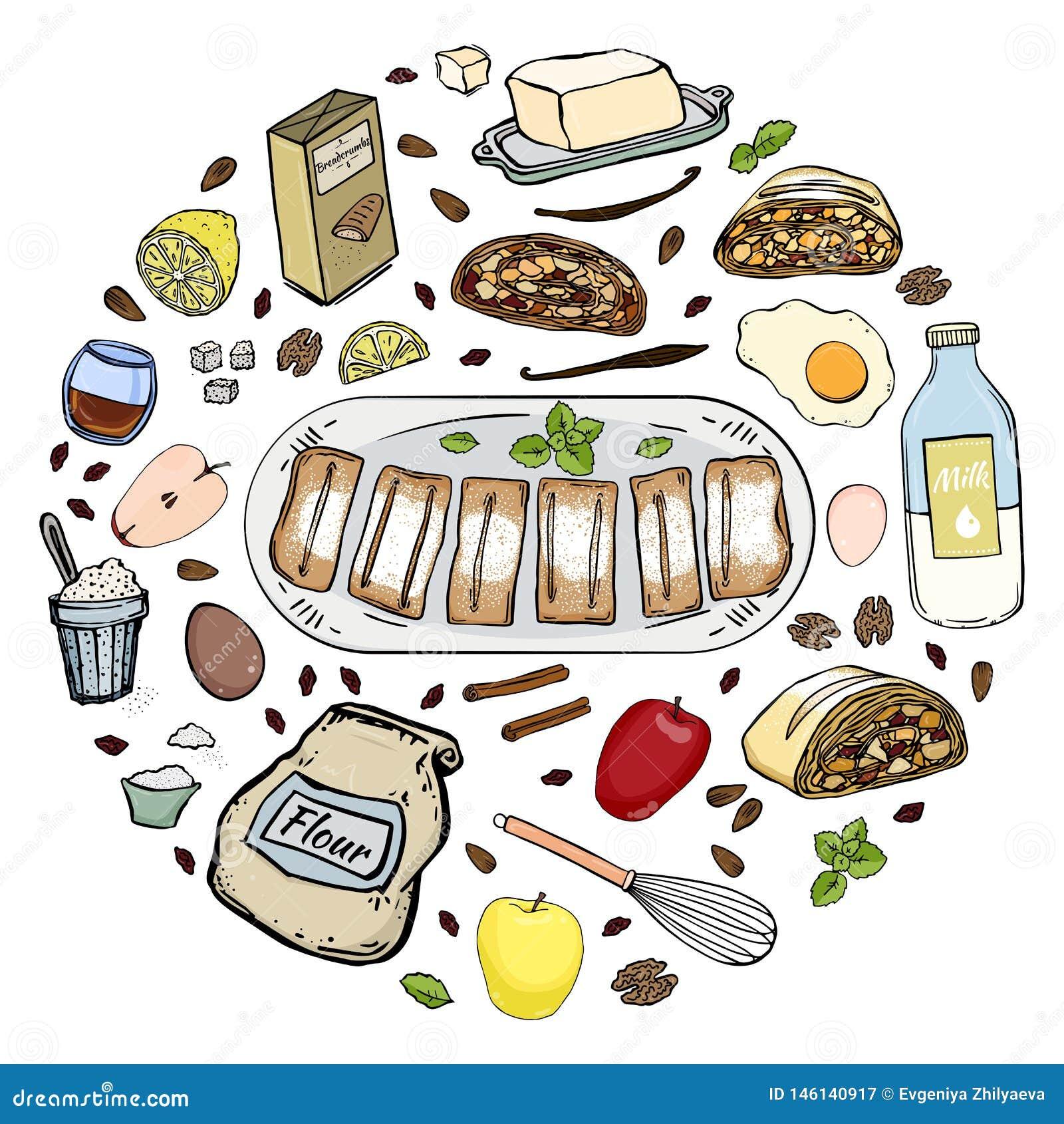 Strudel recipe circle
