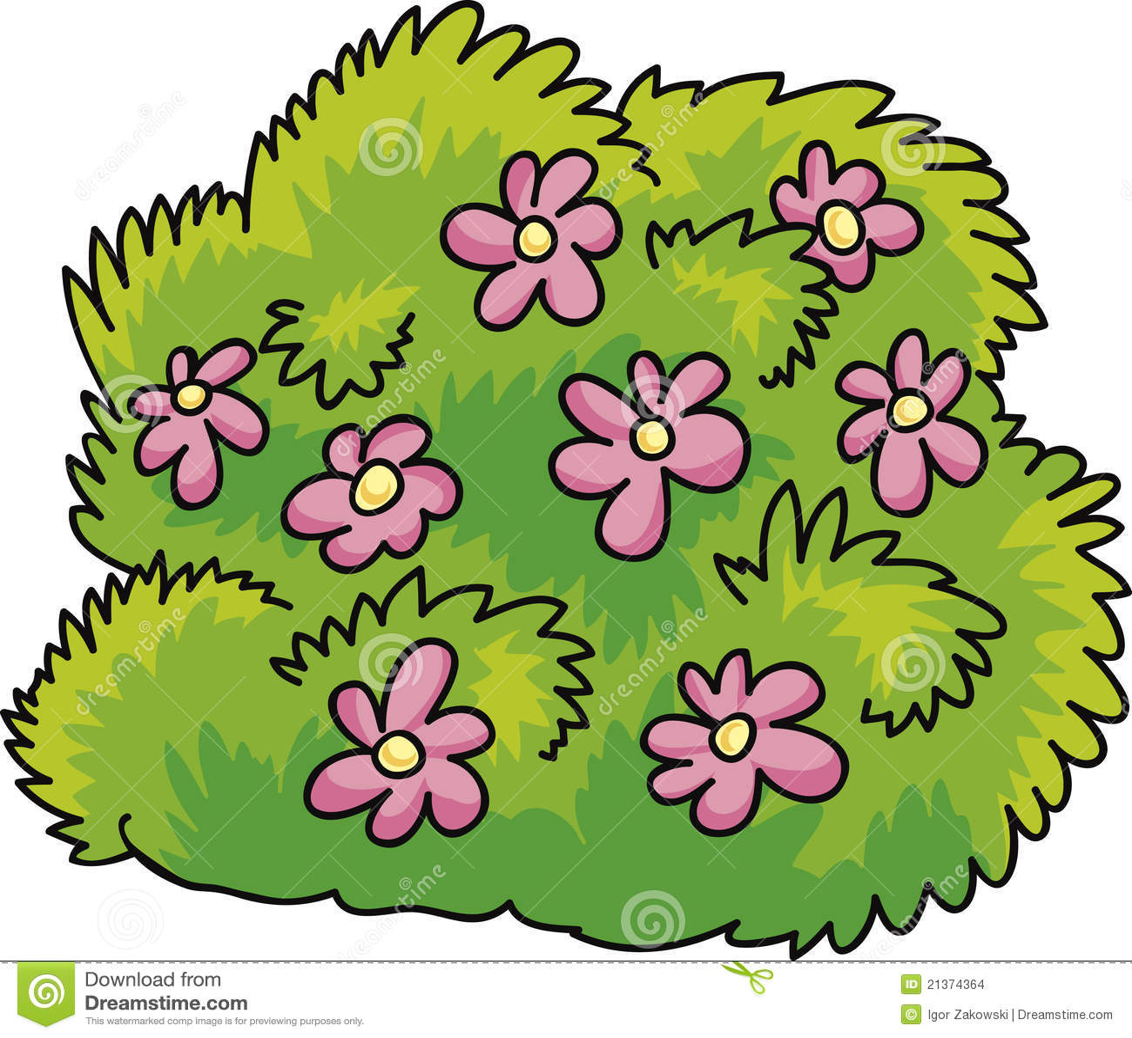 Struik met bloemen stock afbeeldingen afbeelding 21374364 - Bush architectuur ...