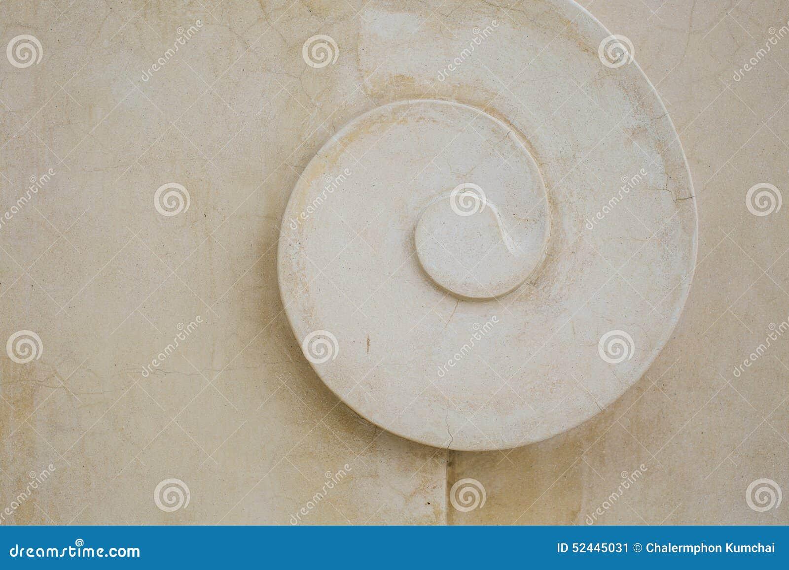 Struktur av tropisk dekorativ murbruk, skalmodell