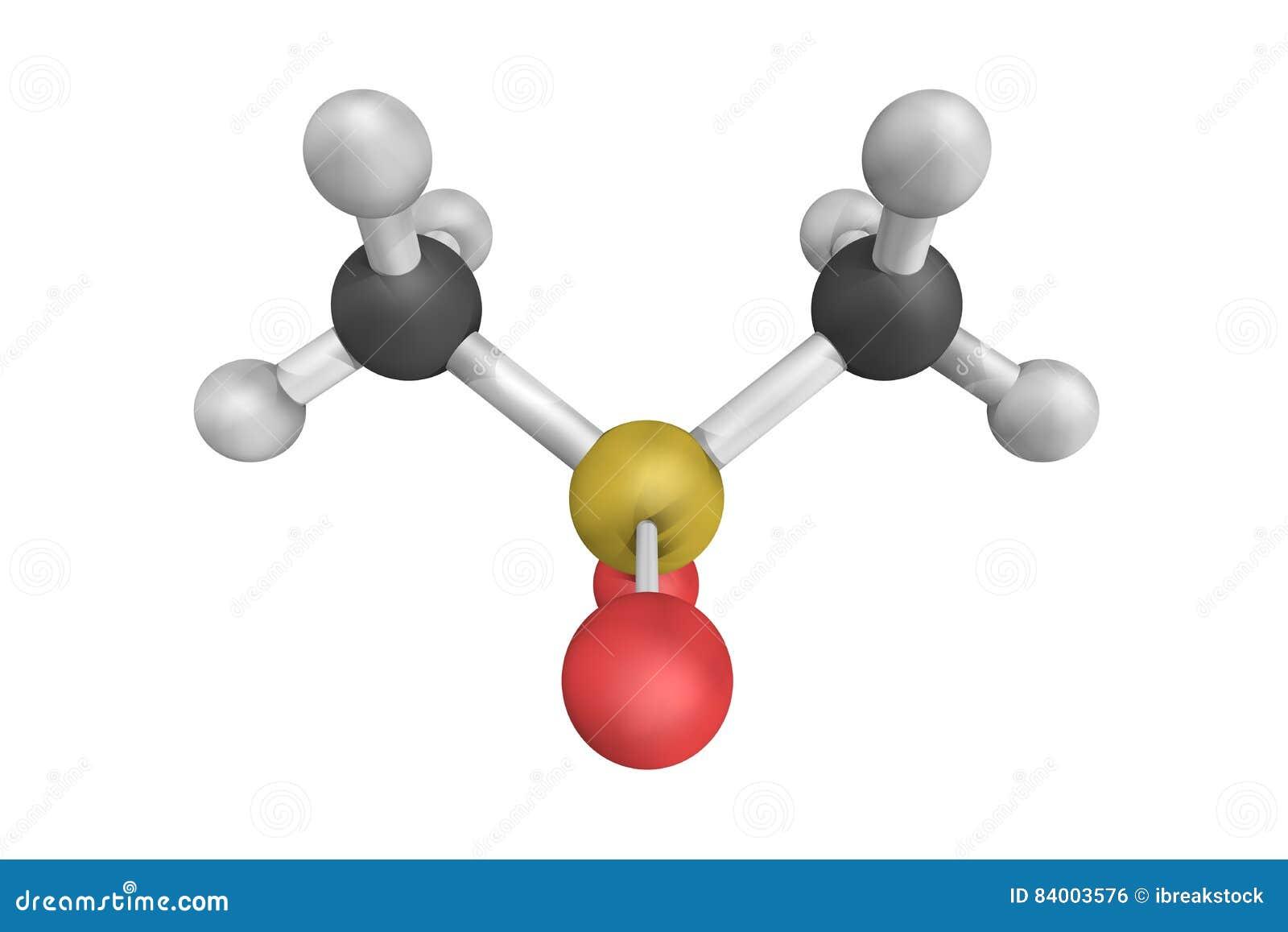 Struktur 3d av Methylsulfonylmethane MSM
