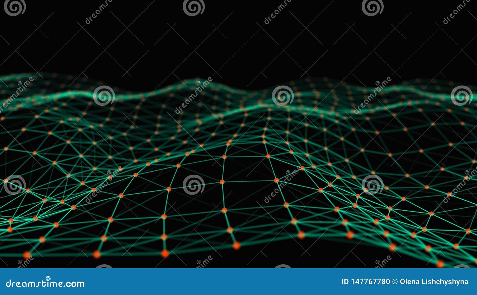 Strukturelle Verbindung von Informationen Daten?bertragung in der Network Connection Abstrakter Datenhintergrund Wiedergabe 3d