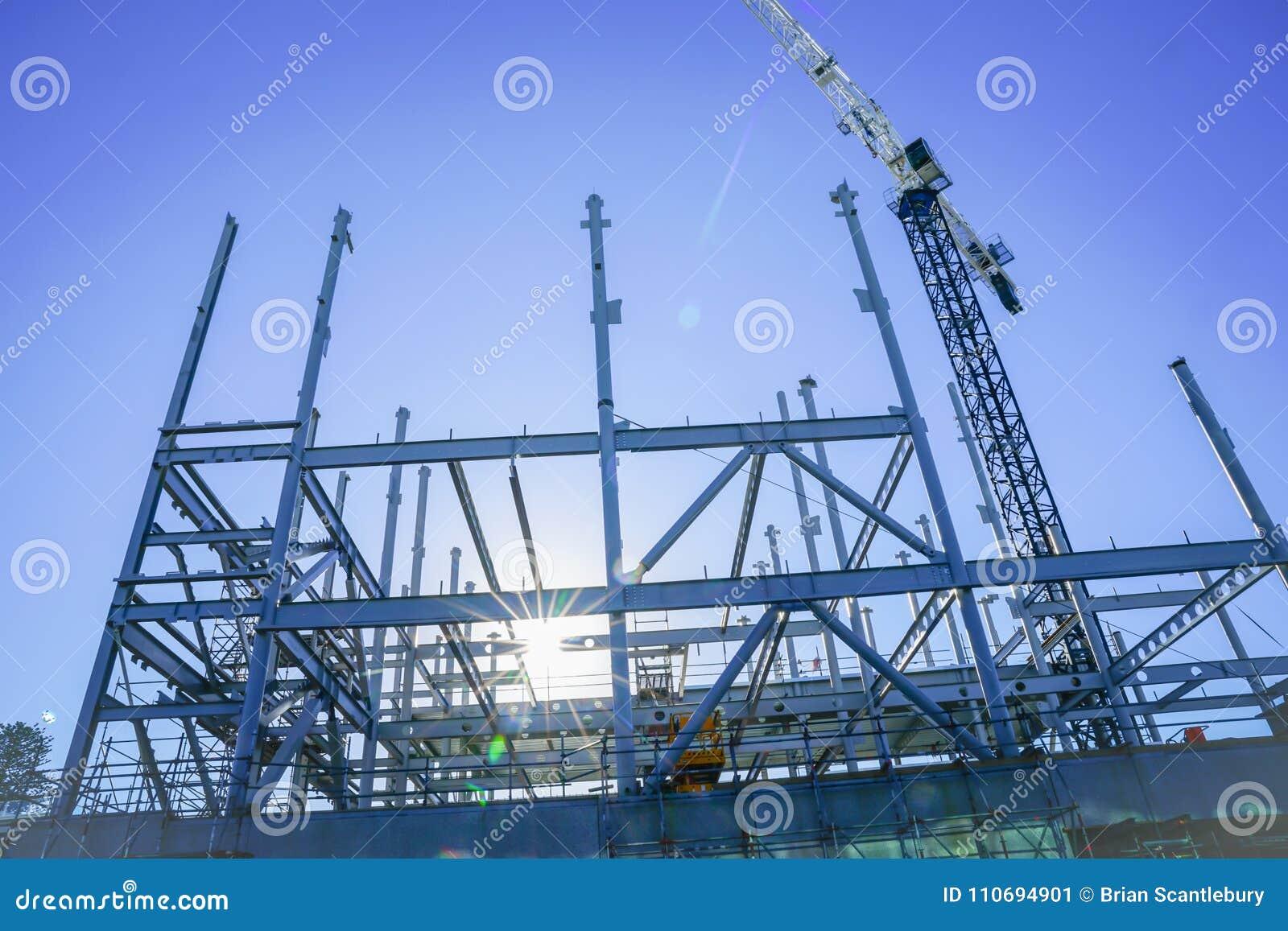 Strukturelles Stahlgerüst für Neubau