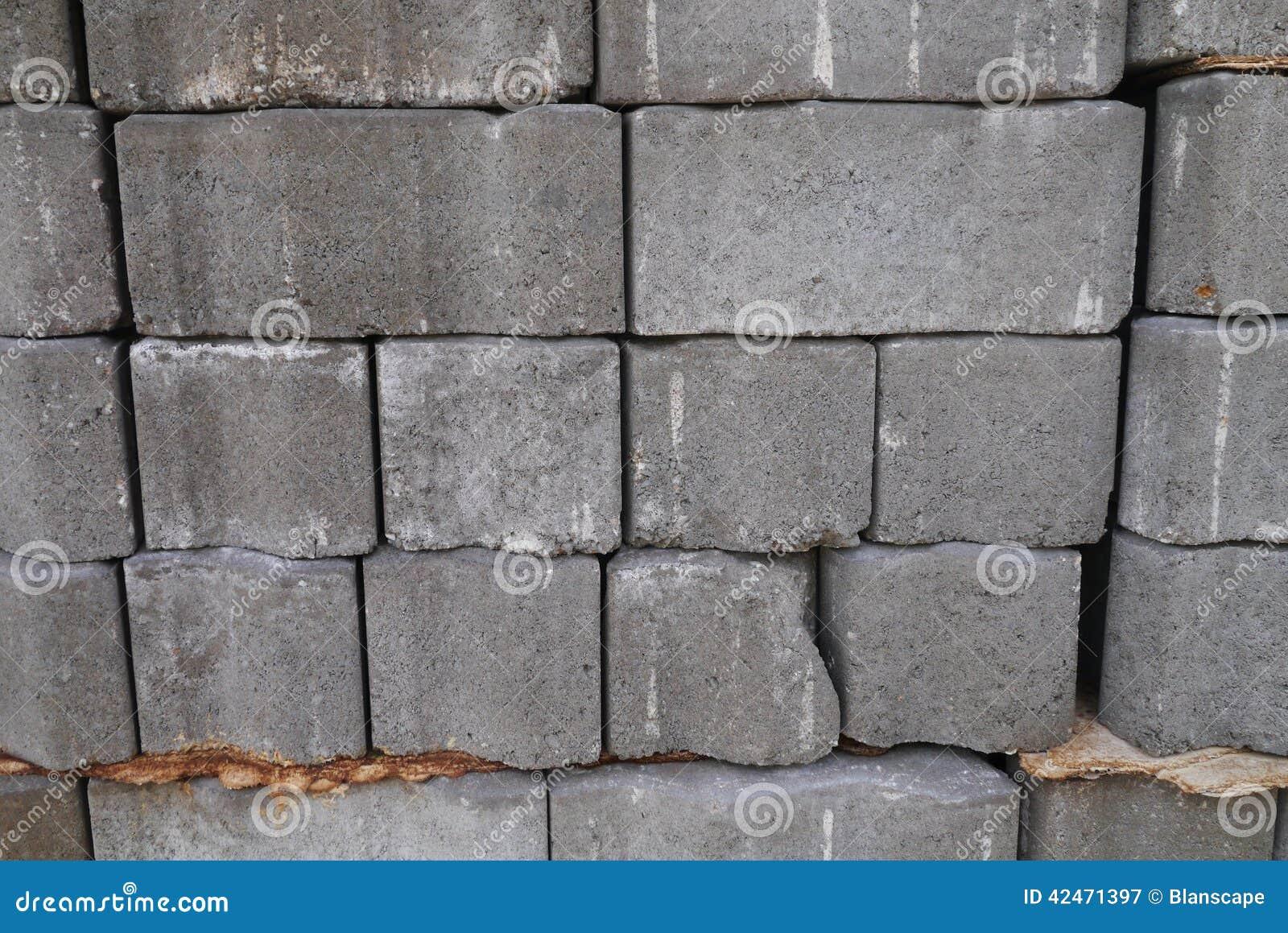 Strukturierter Hintergrund von Zementziegelsteinen