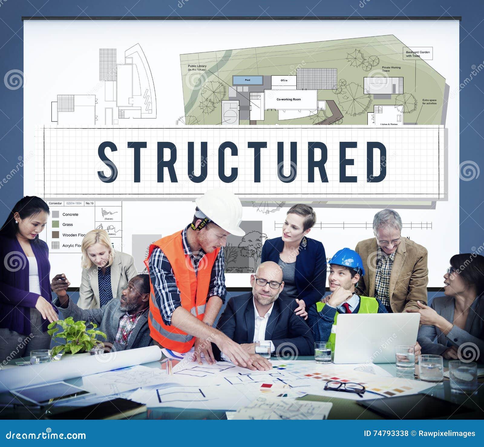 Strukturiertes Hochbau-Ausführungsplan-Konzept