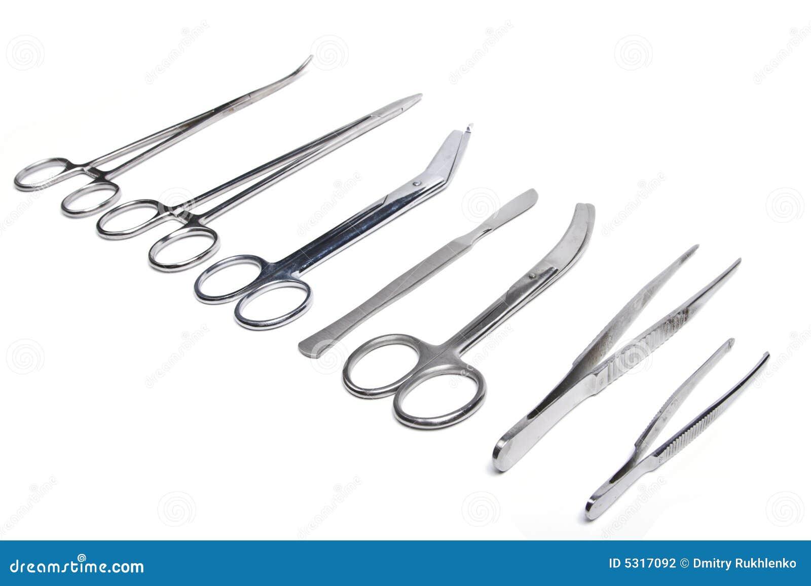 Download Strumenti Chirurgici Isolati Fotografia Stock - Immagine di chirurgico, chirurgo: 5317092