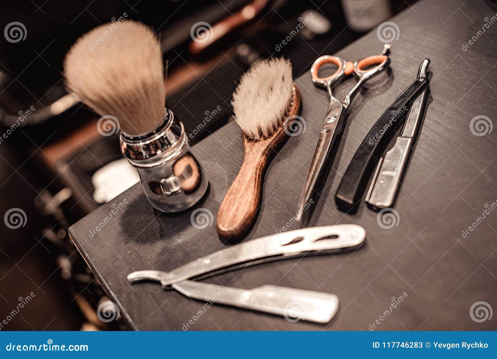 Strumenti del negozio di barbiere