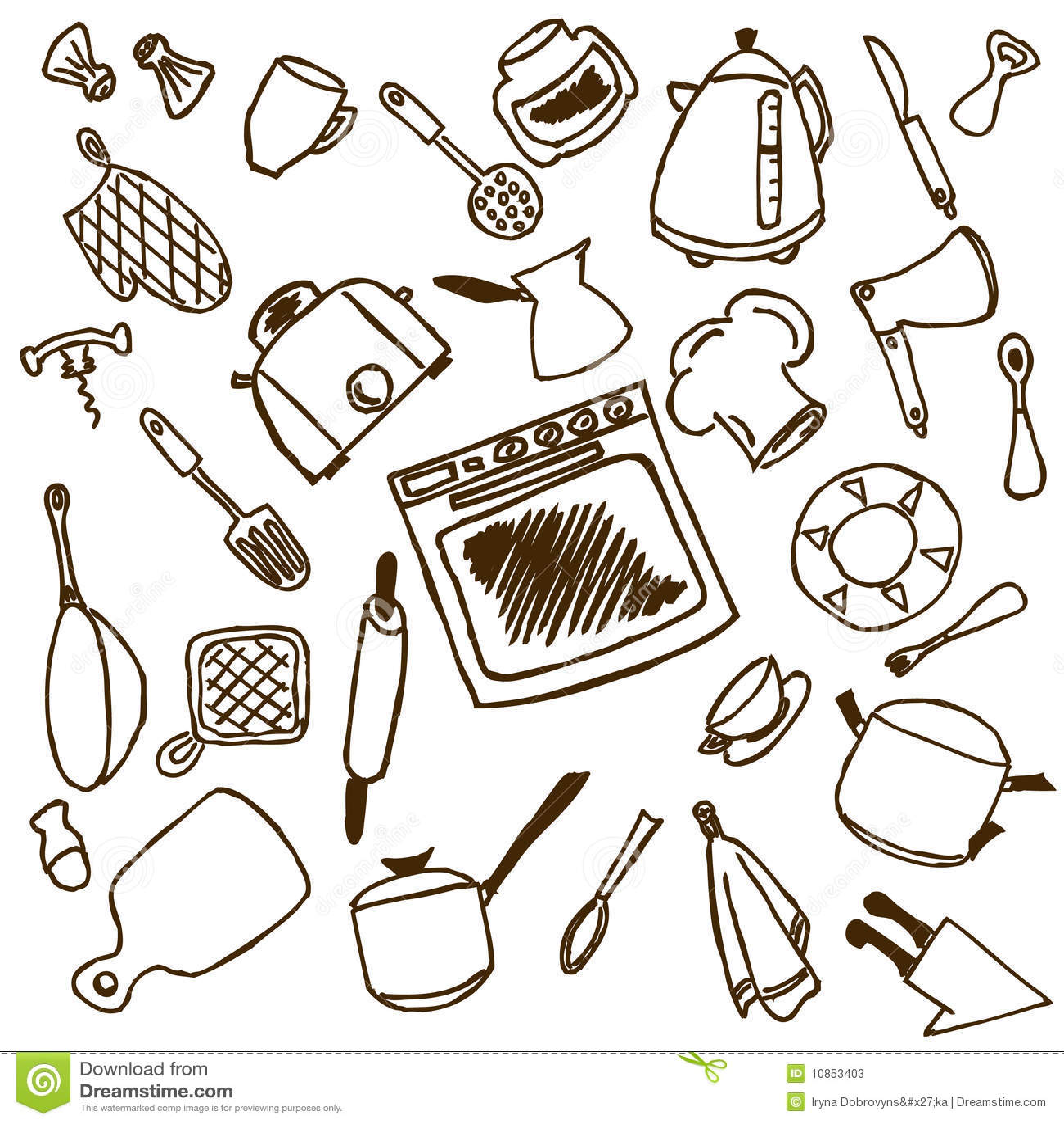 Strumenti della cucina illustrazione vettoriale for Oggetti da cucina