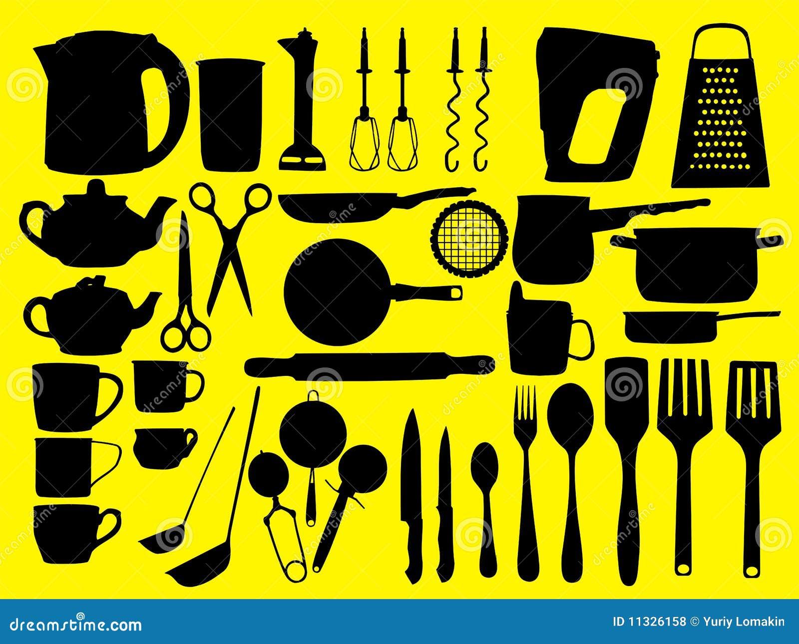 Strumenti della cucina illustrazione vettoriale illustrazione di friggere 11326158 - Strumenti da cucina ...