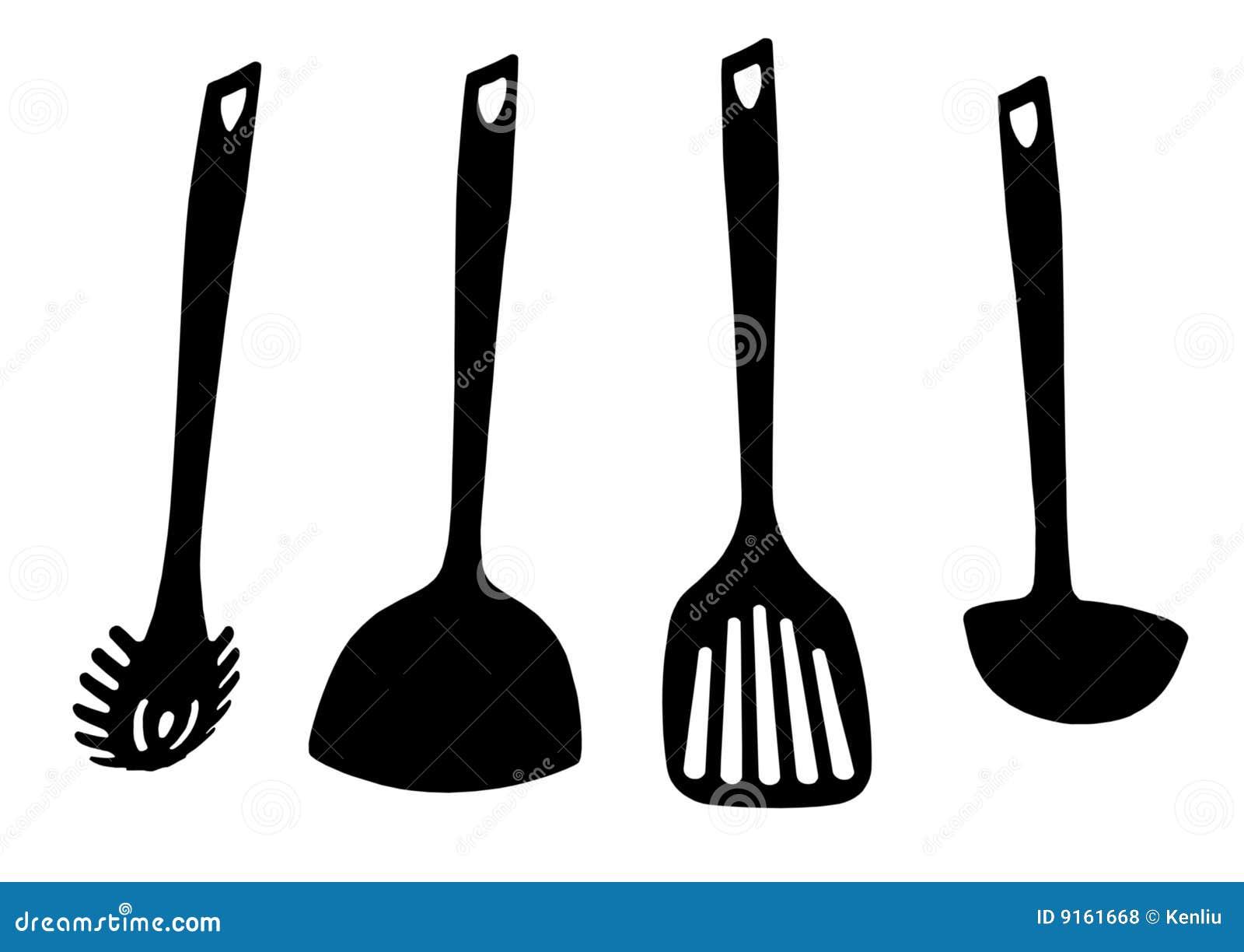 Strumenti della cucina illustrazione di stock illustrazione di tablespoon 9161668 - Strumenti da cucina ...