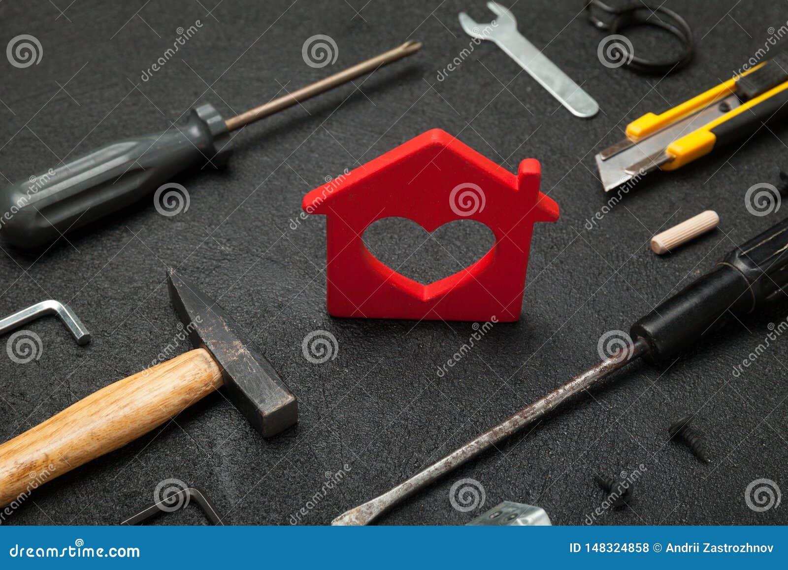 Strumenti della propriet?, riparazione della casa Concetto di rinnovamento del tuttofare