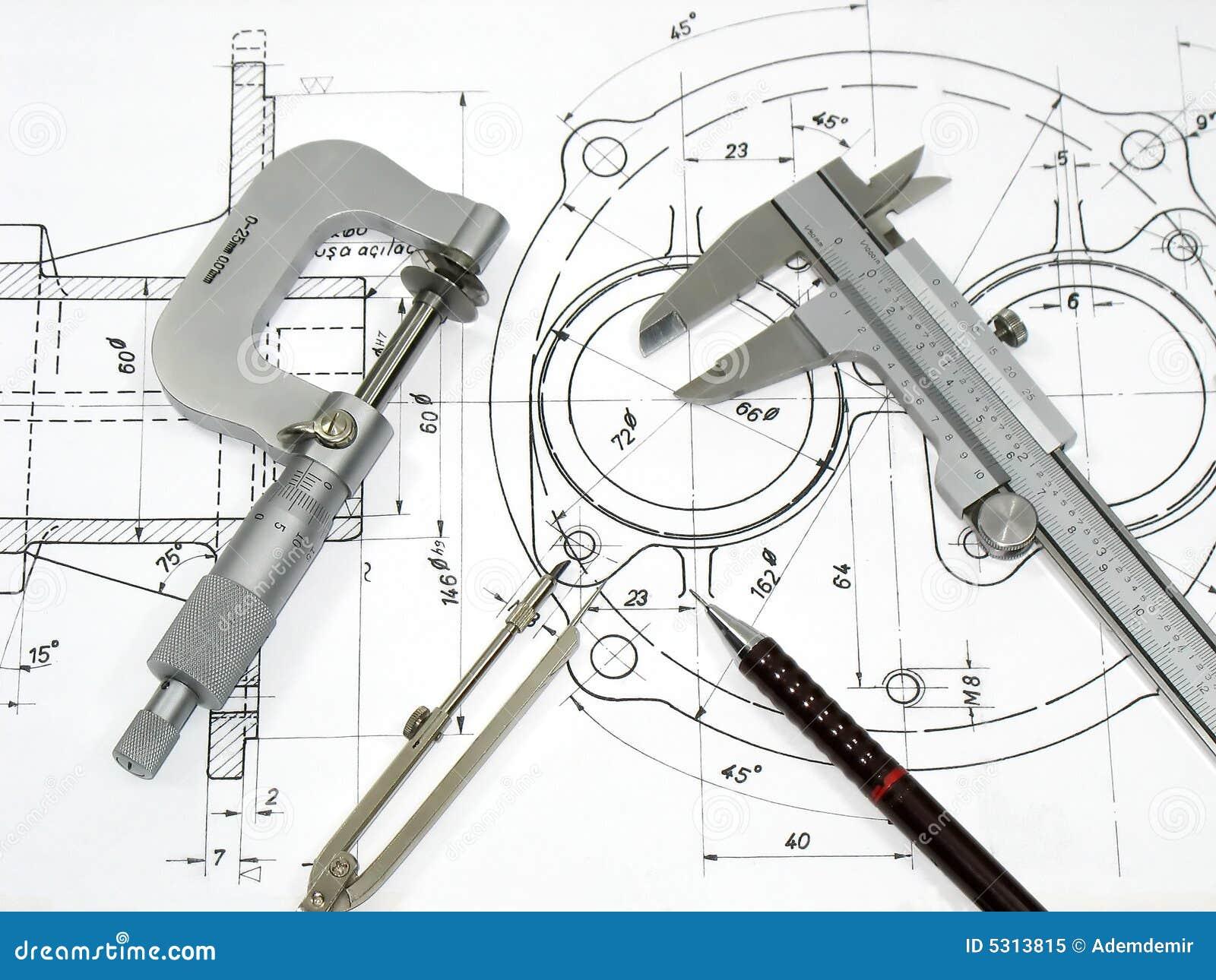 Download Strumenti di ingegneria immagine stock. Immagine di bussola - 5313815