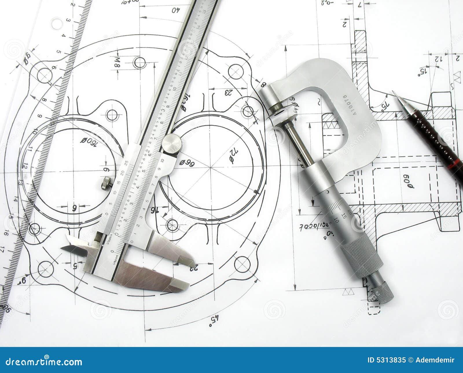 Download Strumenti di ingegneria immagine stock. Immagine di disposizione - 5313835