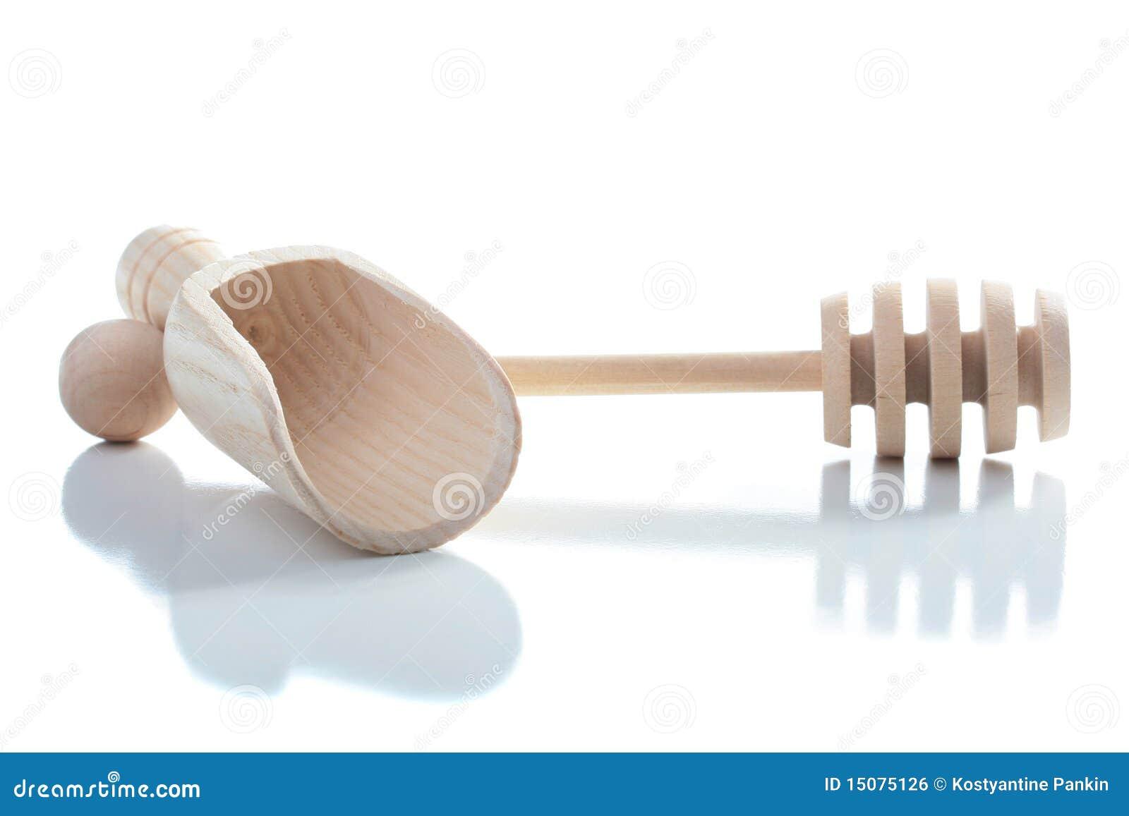 Strumenti di legno per la cucina fotografia stock for Strumenti di cucina