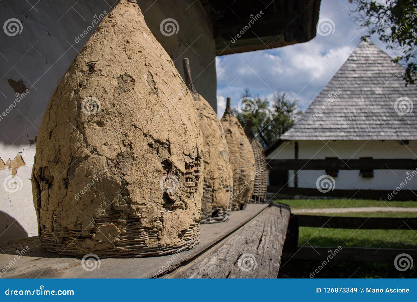 Strumenti nel museo del villaggio della crusca