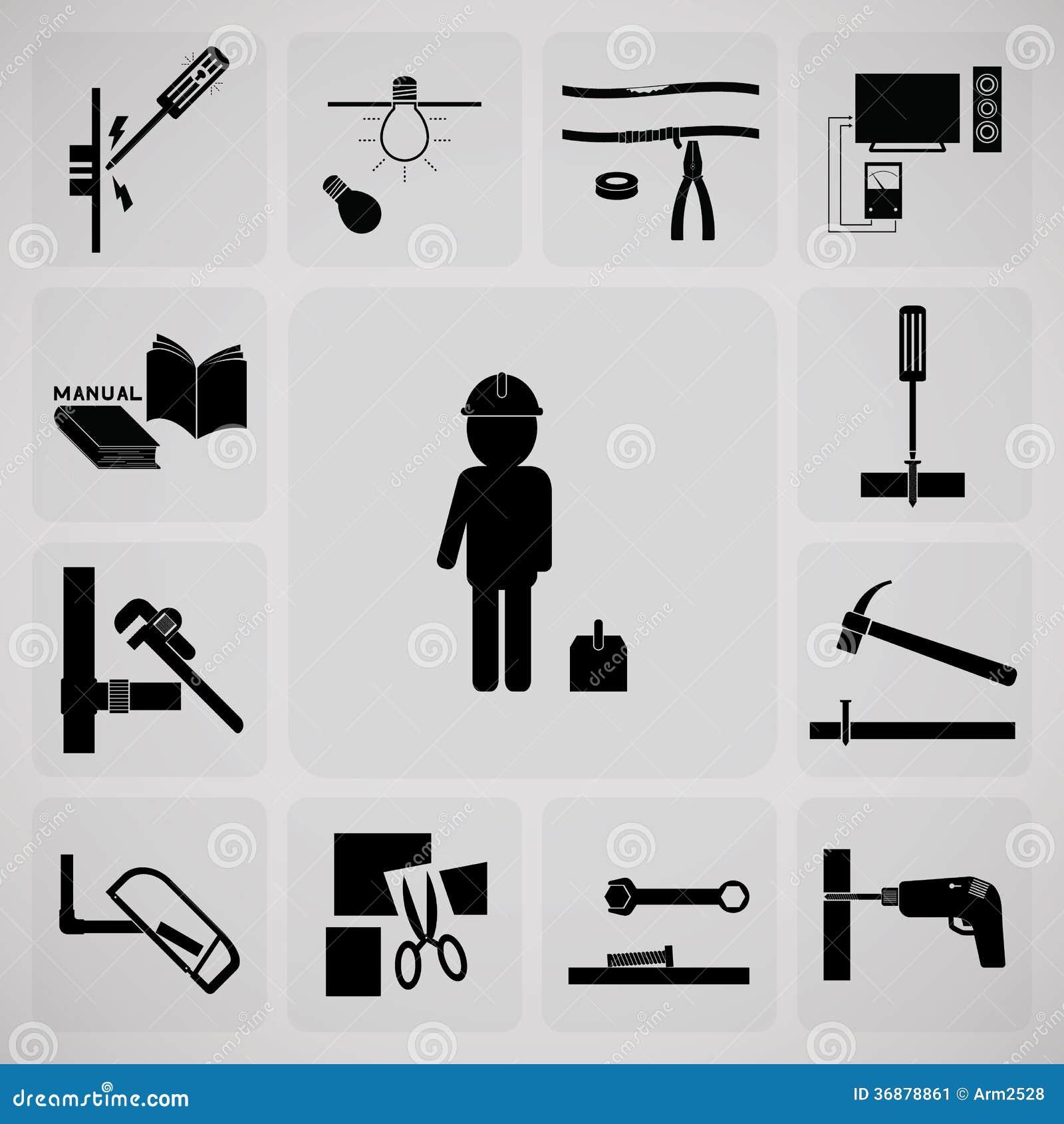 Download Strumento e tecnico illustrazione vettoriale. Illustrazione di tecnico - 36878861