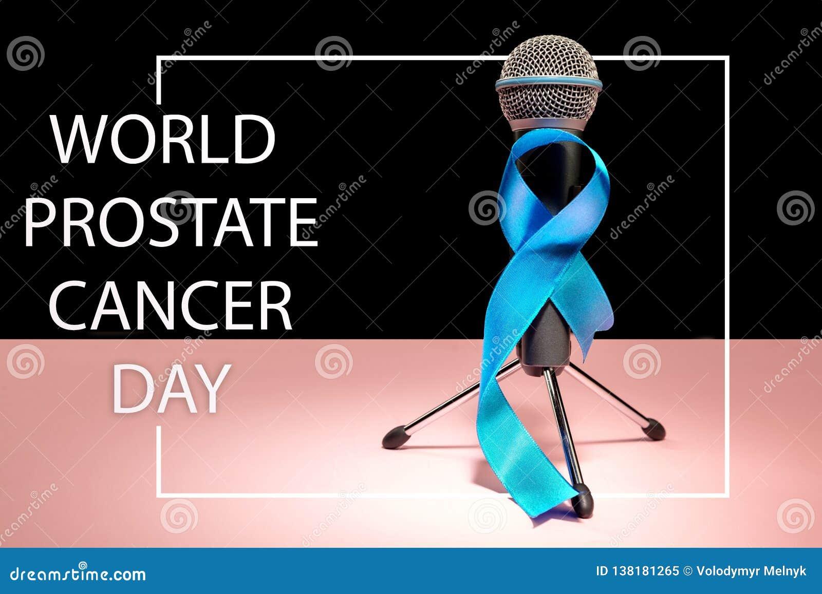 Strumpebandsorden som är symbolisk av aktionen för medvetenhet för prostatacancer och mäns hälsa i November