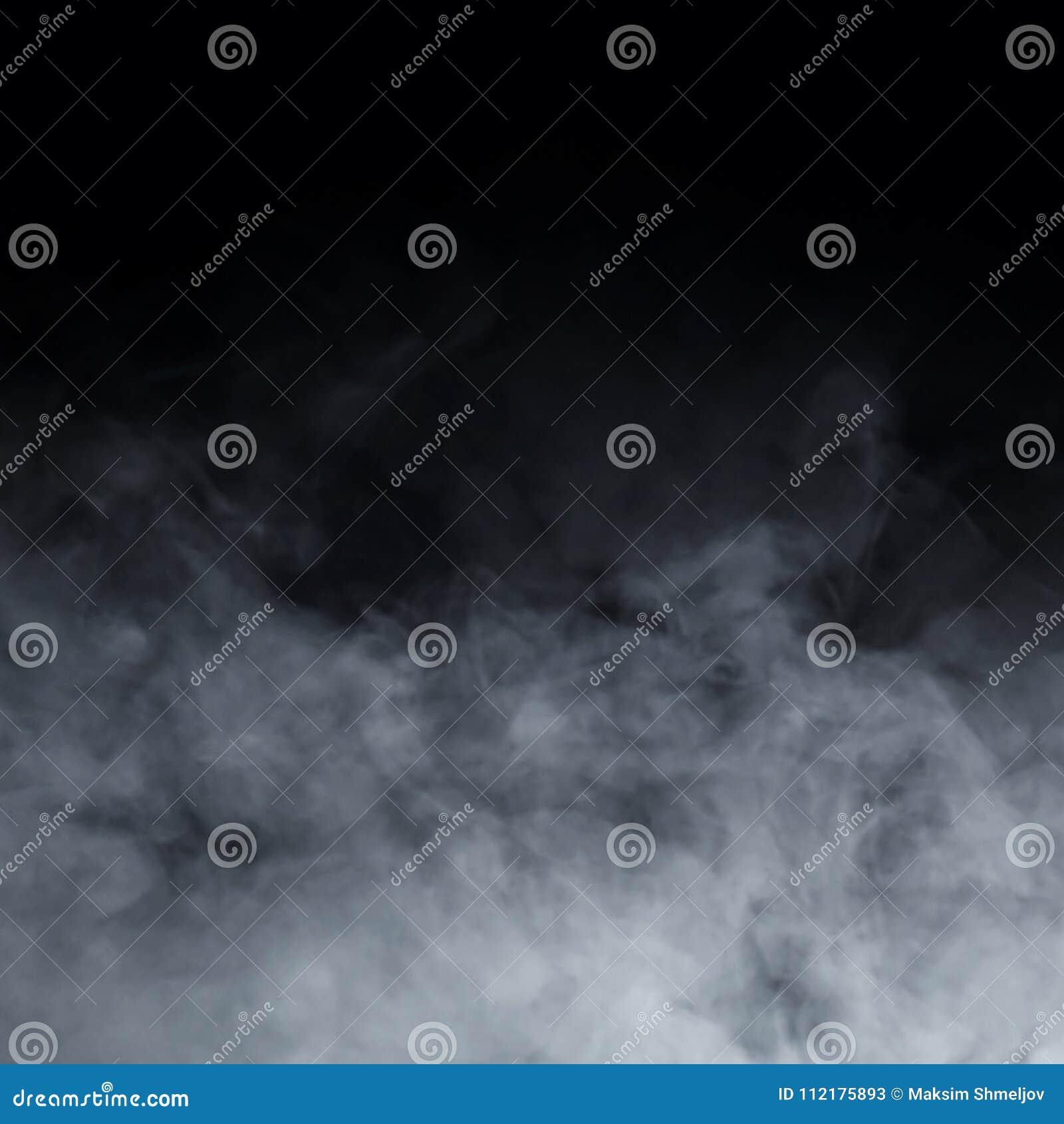 Struttura astratta del fumo sopra fondo nero