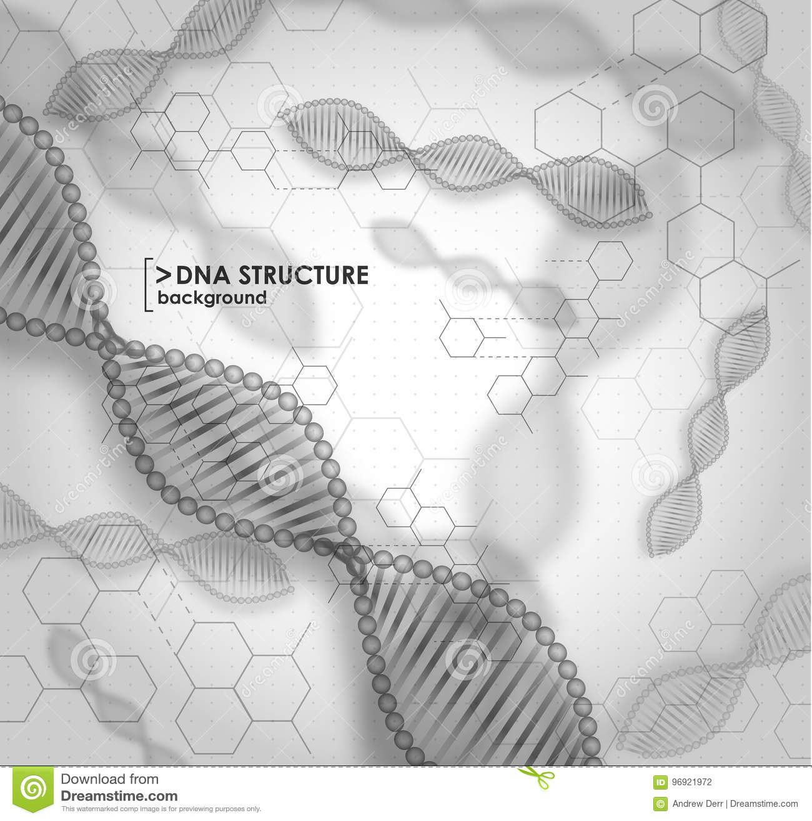 Struttura in bianco e nero del DNA del fondo