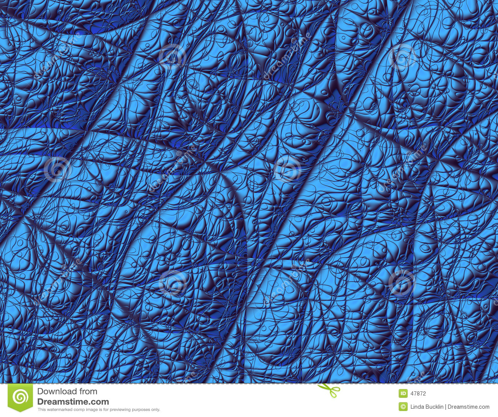 Struttura blu metallica di frattalo