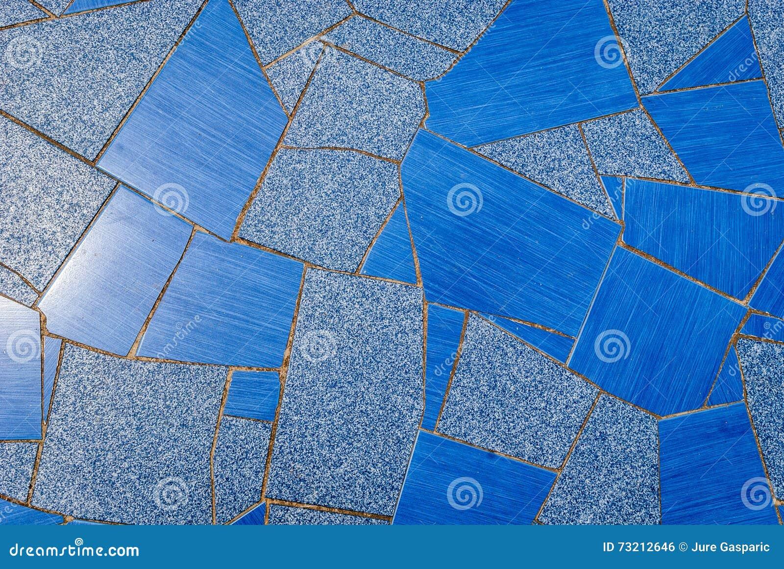 Struttura blu naturale delle piastrelle di ceramica della