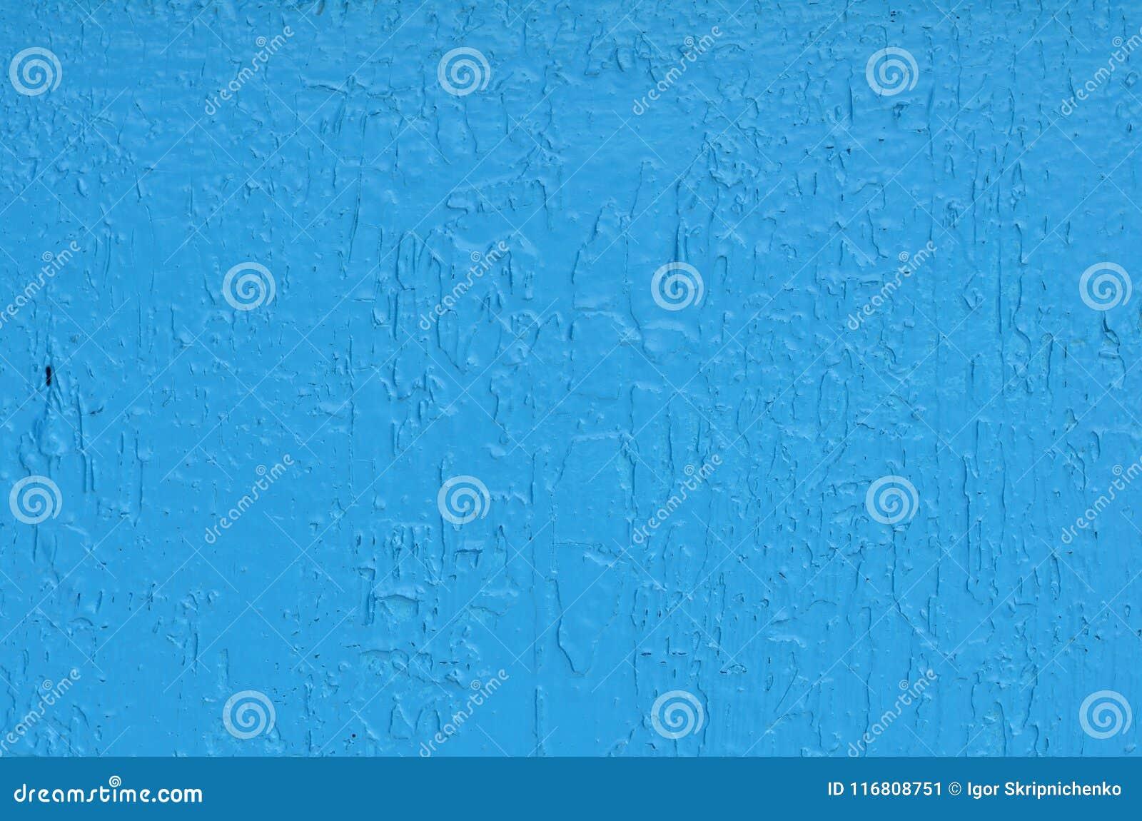 Struttura blu solida con gli urti e le crepe