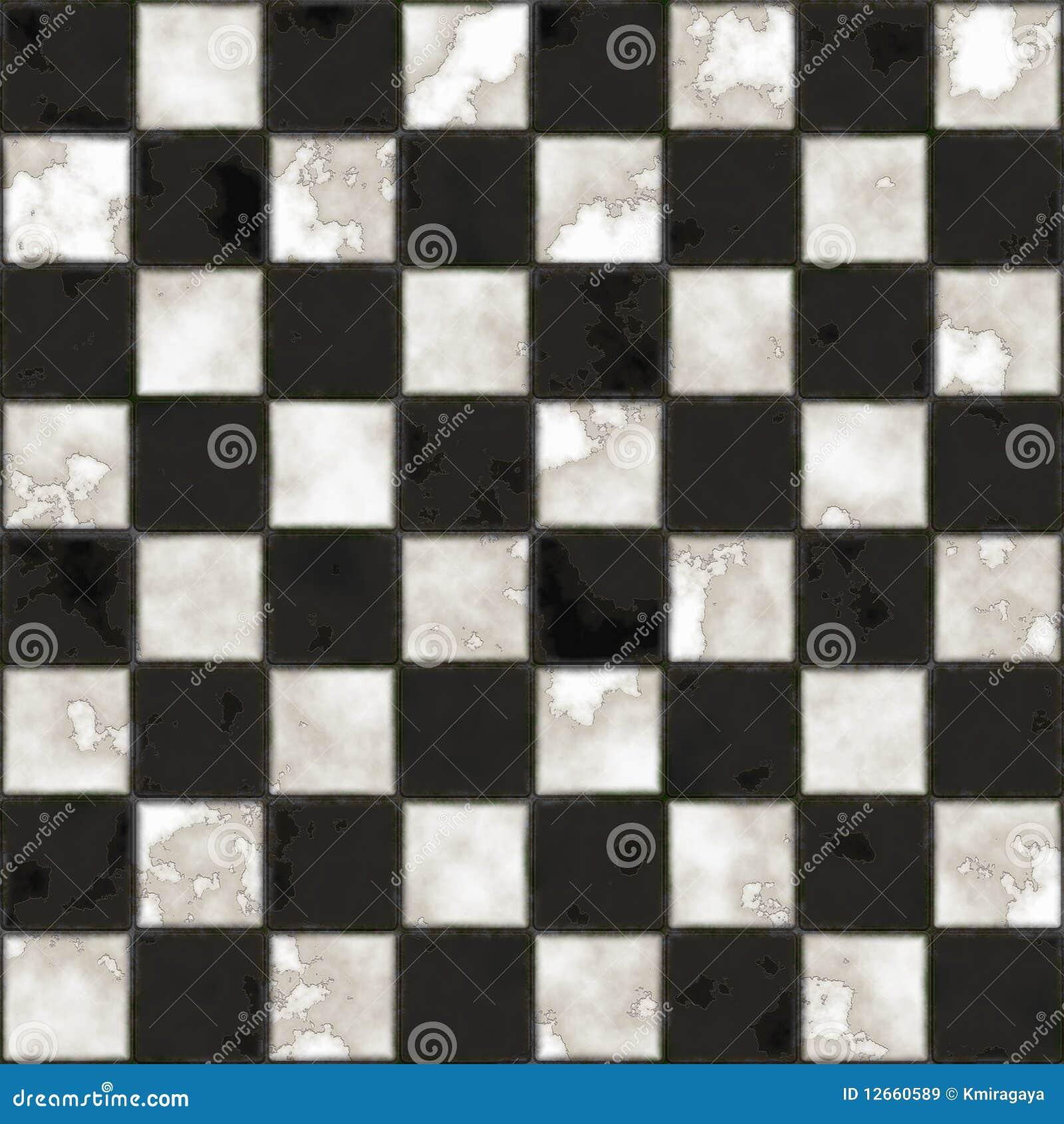 Struttura checkered in bianco e nero senza giunte