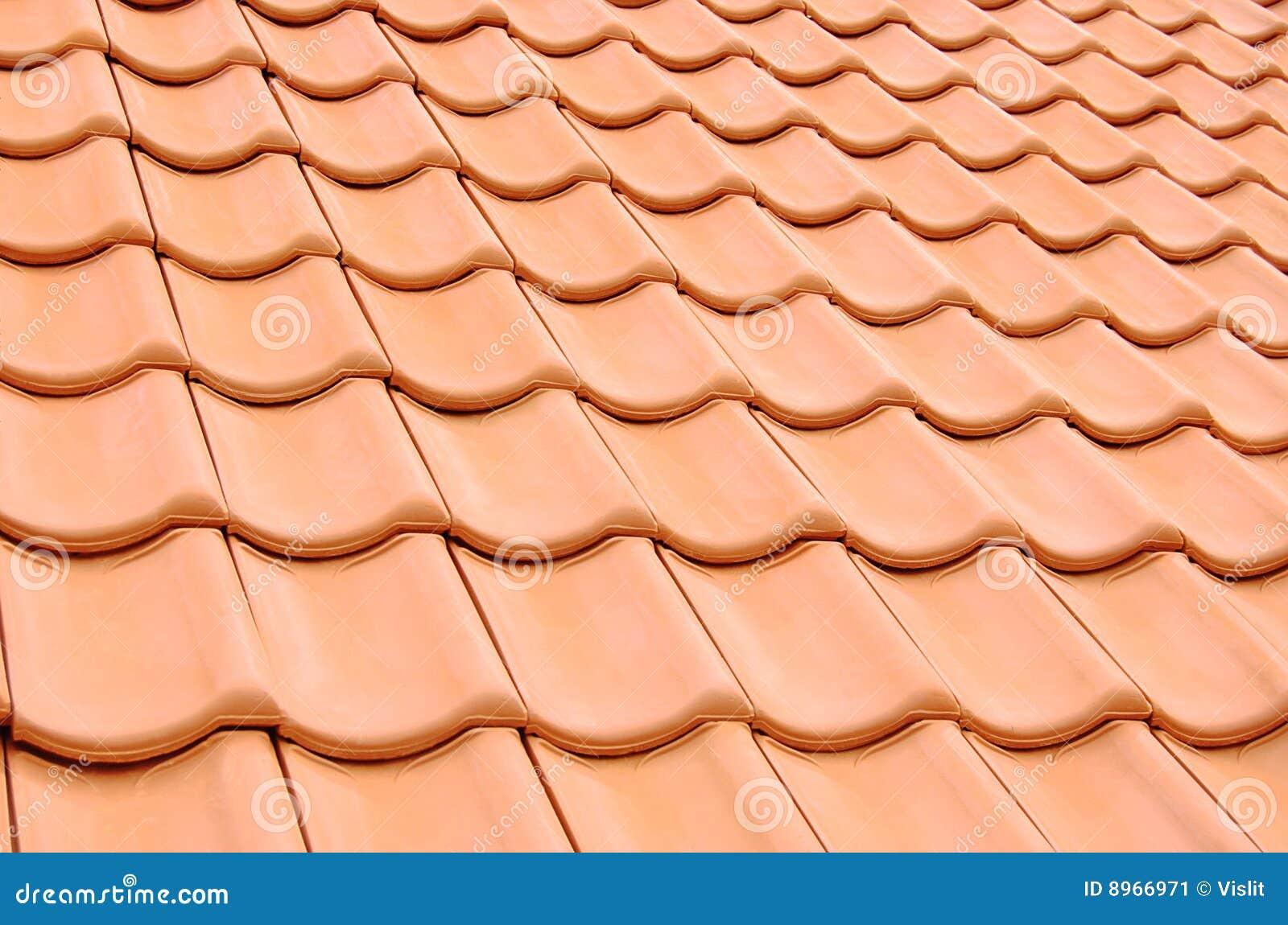 Struttura coperta di tegoli del tetto