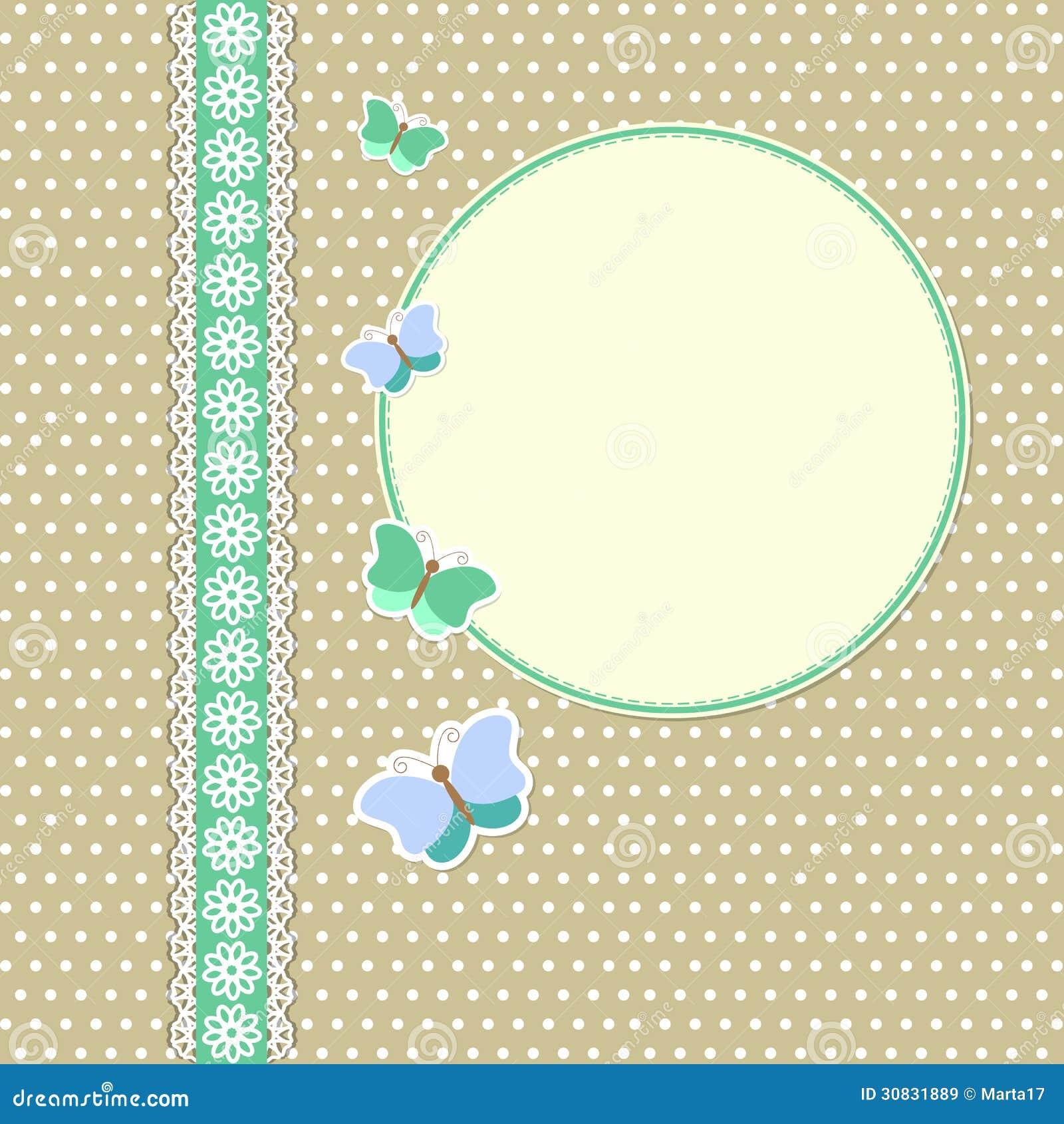 Struttura d annata con le farfalle