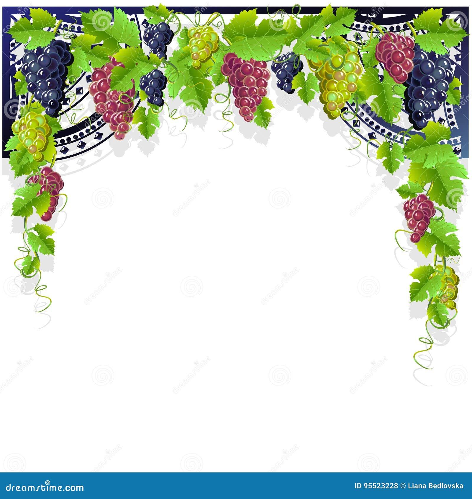 Struttura Dannata Con Vino E Luva Illustrazione Vettoriale