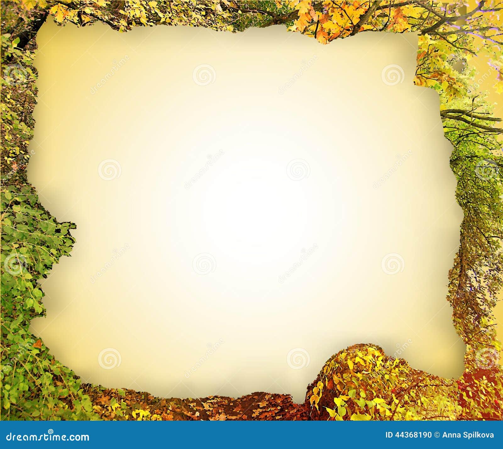 Struttura d annata lacerata dalle foglie di autunno