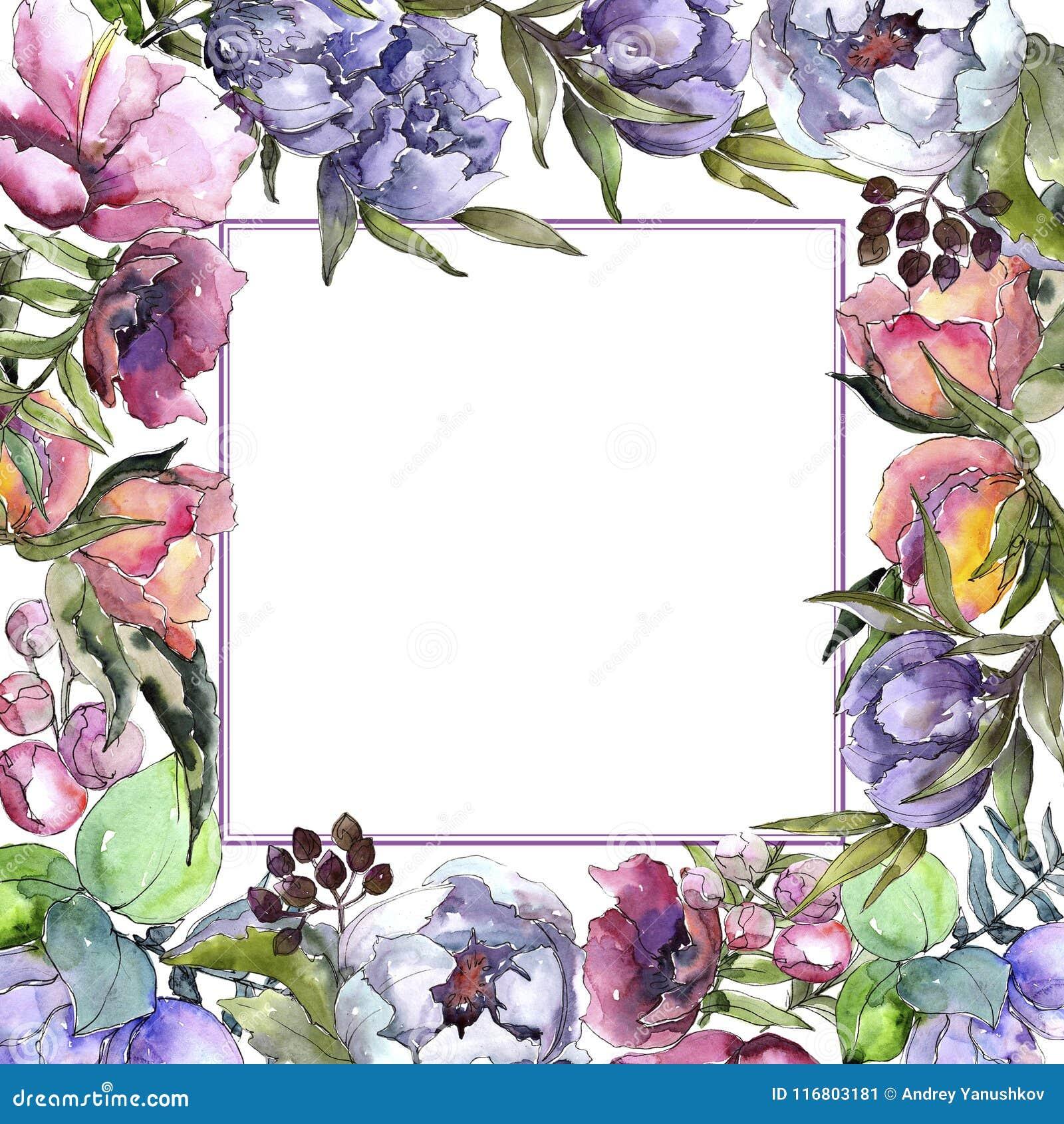 Struttura dei wildflowers del mazzo in uno stile dell acquerello