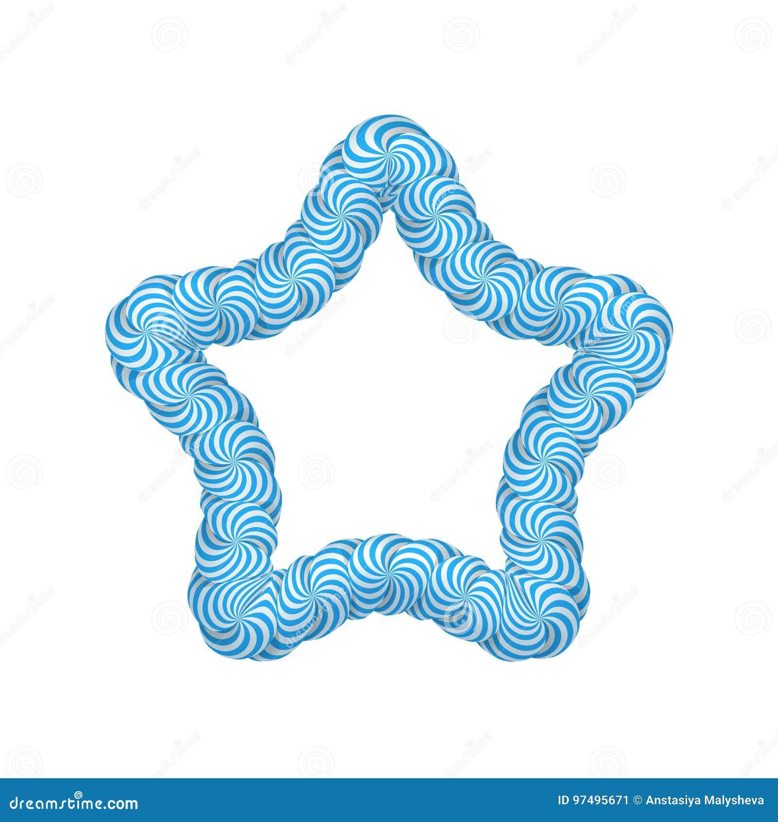 Struttura del blu della stella della lecca-lecca
