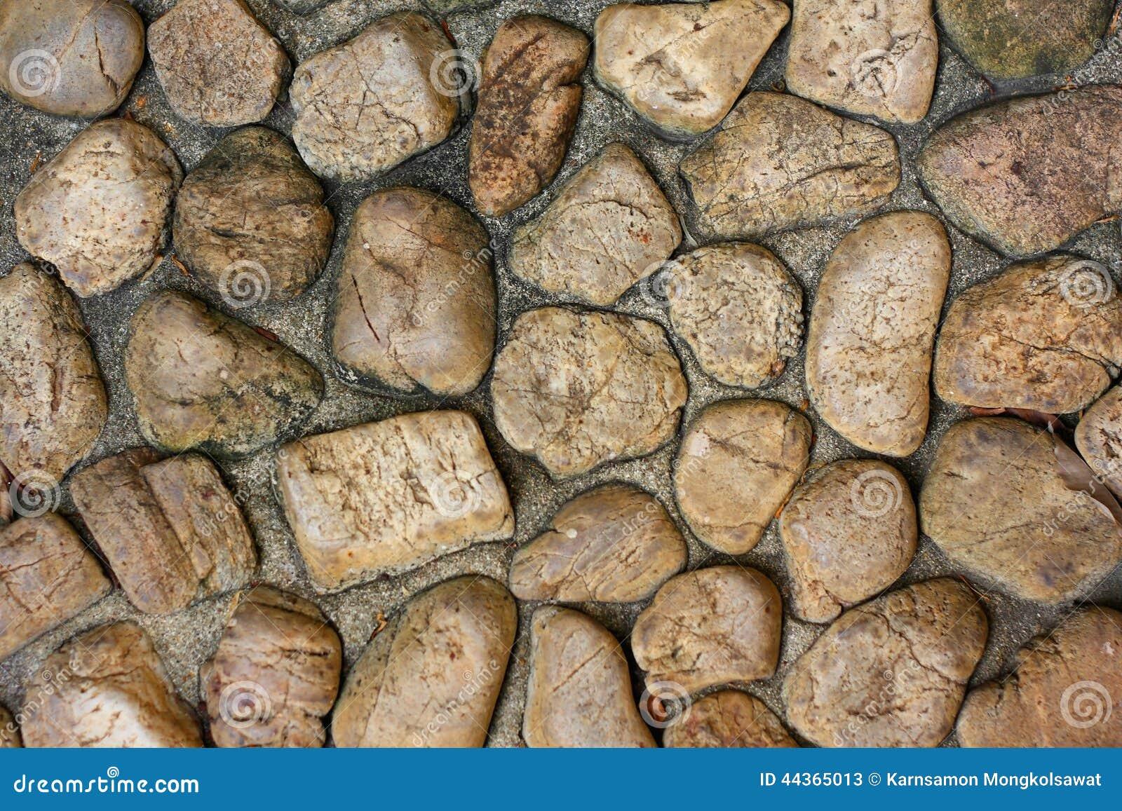 Struttura del fondo del pavimento di pietra