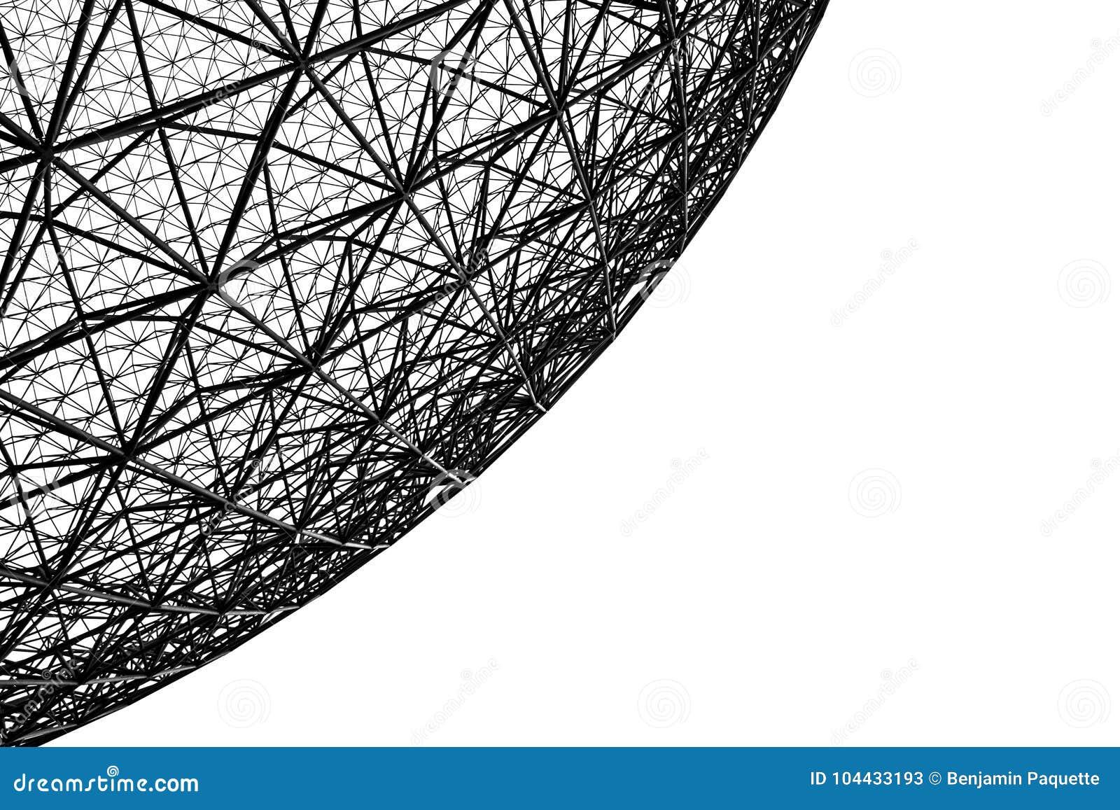 Struttura del metallo della biosfera a Montreal
