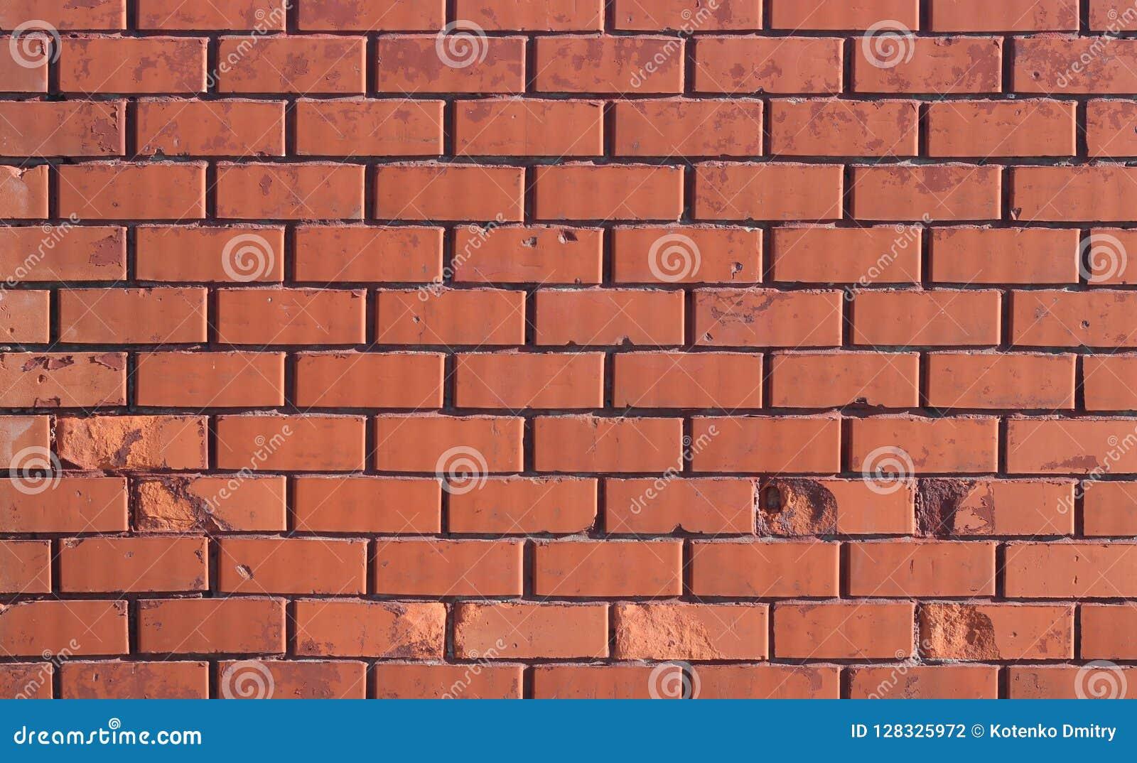 Struttura del muro di mattoni Parete della putrefazione Sharp solare che accende la parete
