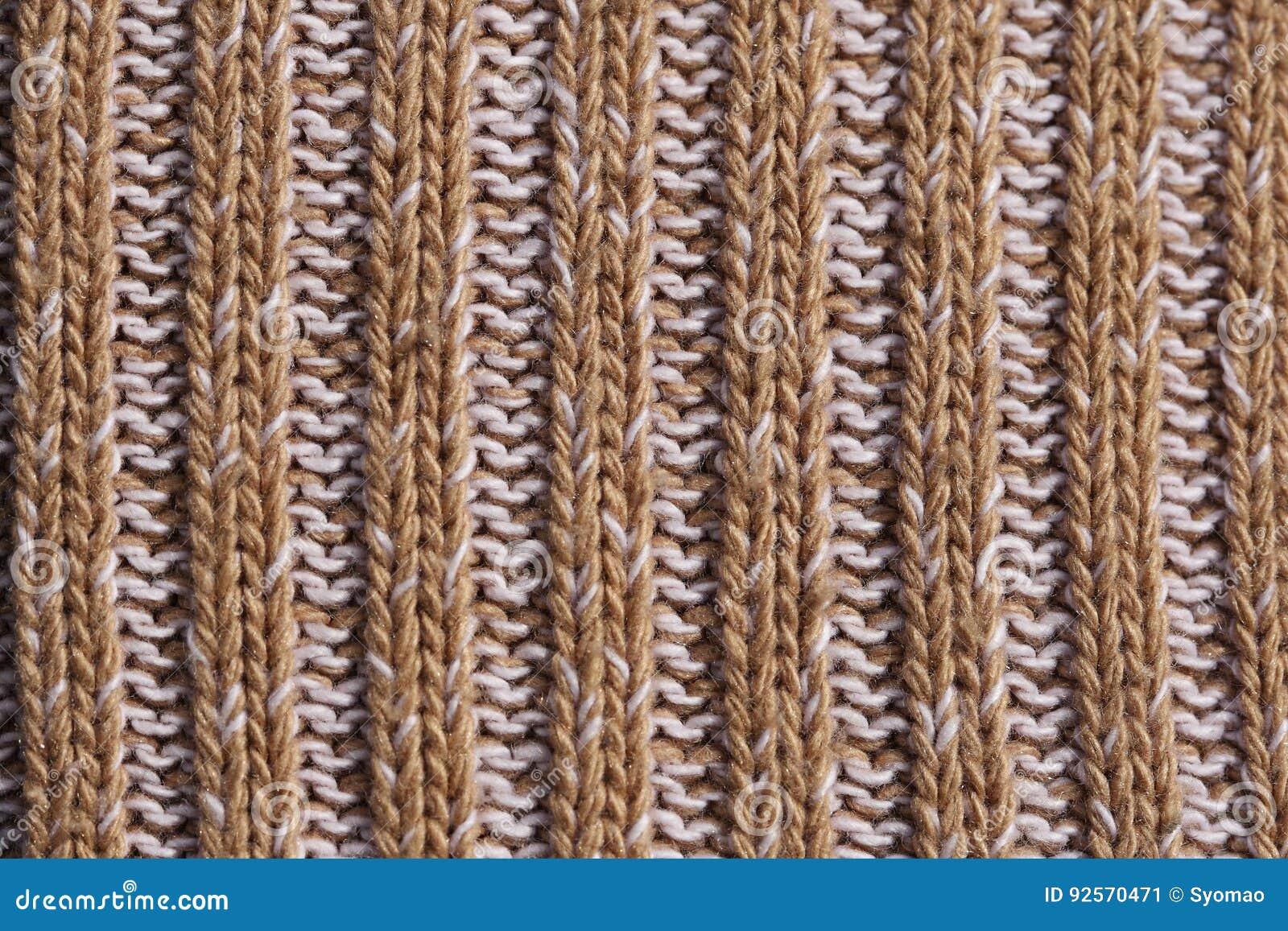 Struttura del primo piano tricottato del tessuto