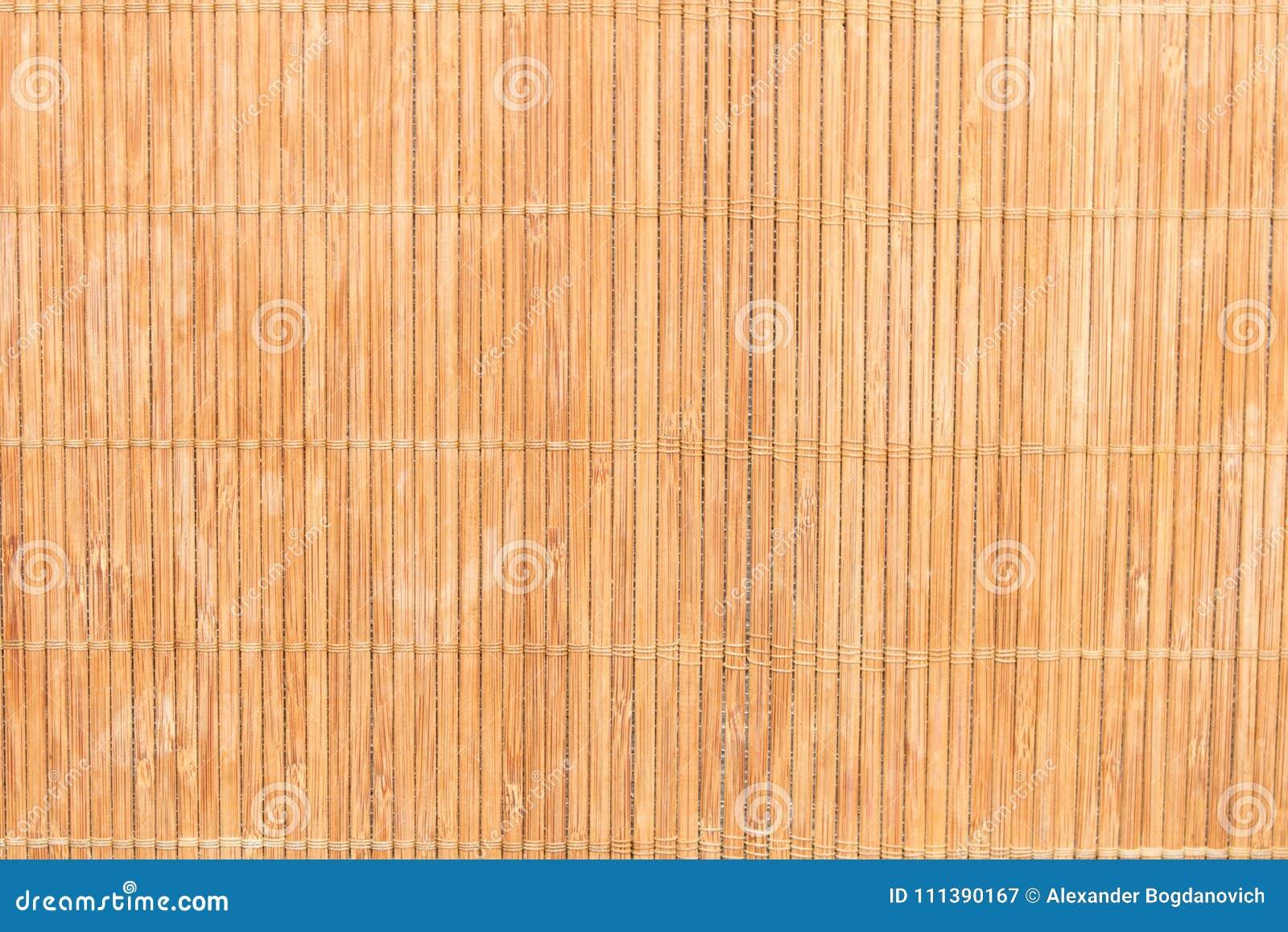 Struttura del tovagliolo di bambù Sfondo naturale di bambù