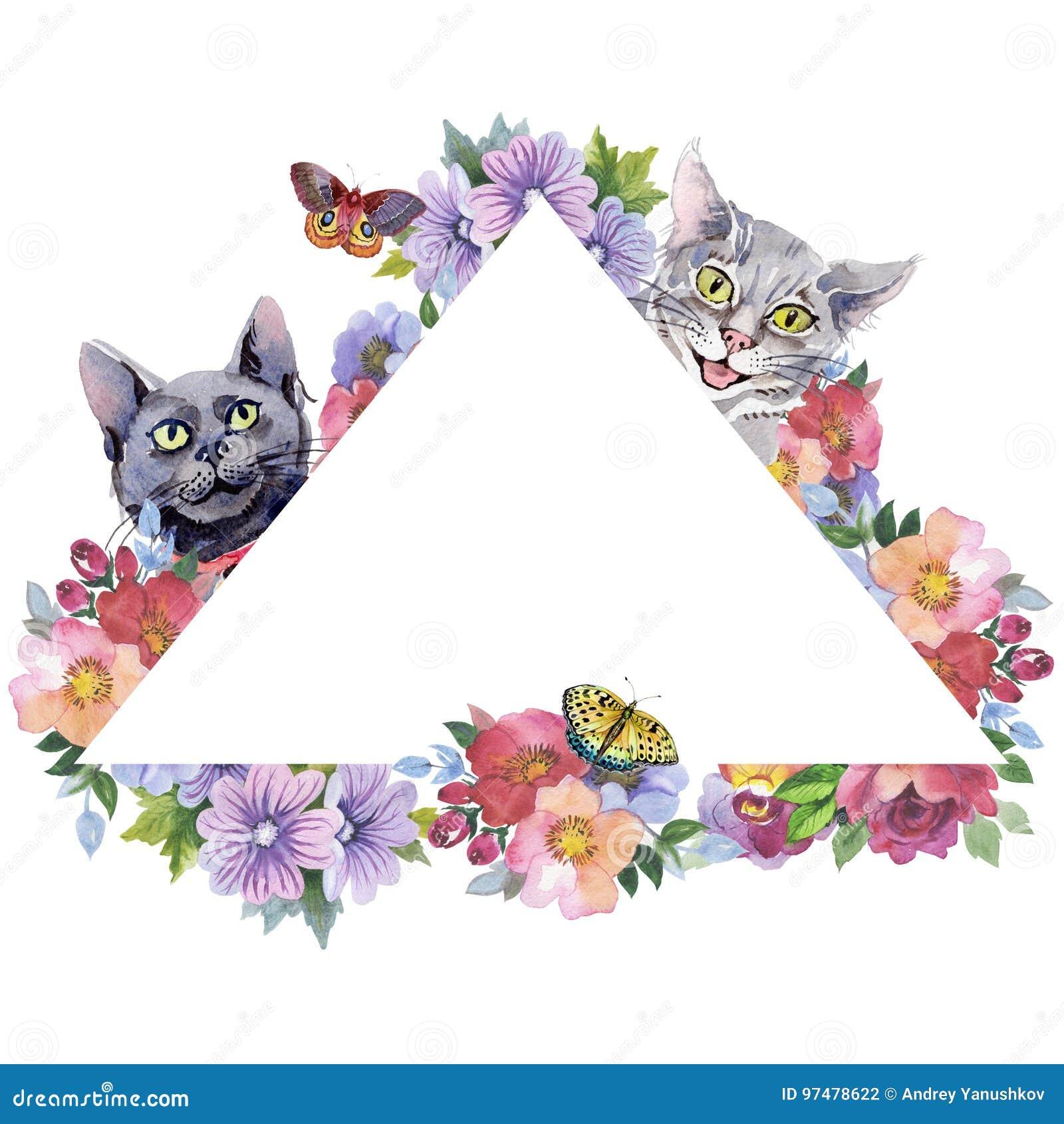 Struttura dell animale selvatico del gatto in uno stile dell acquerello