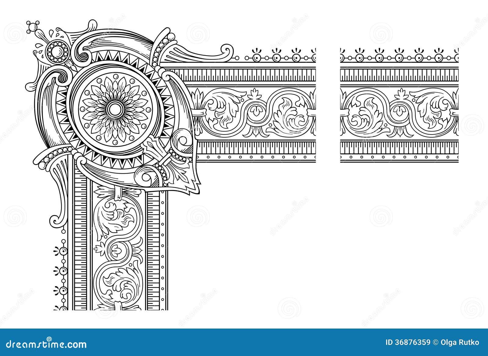 Download Struttura Della Decorazione Illustrazione Vettoriale - Illustrazione di vecchio, heraldic: 36876359