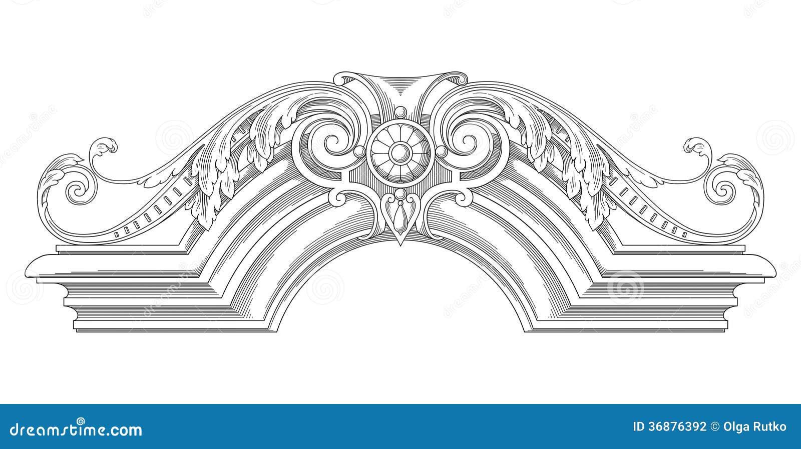 Download Struttura Della Decorazione Illustrazione Vettoriale - Illustrazione di bellezza, animale: 36876392
