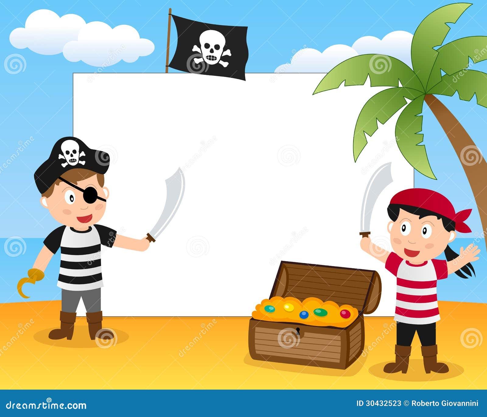 Struttura della foto del tesoro & del pirata
