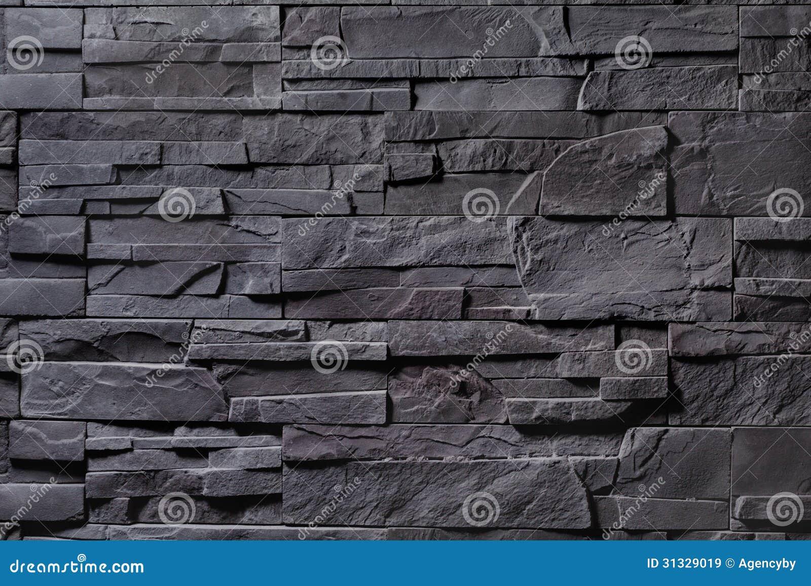 Struttura della parete di pietra grigia