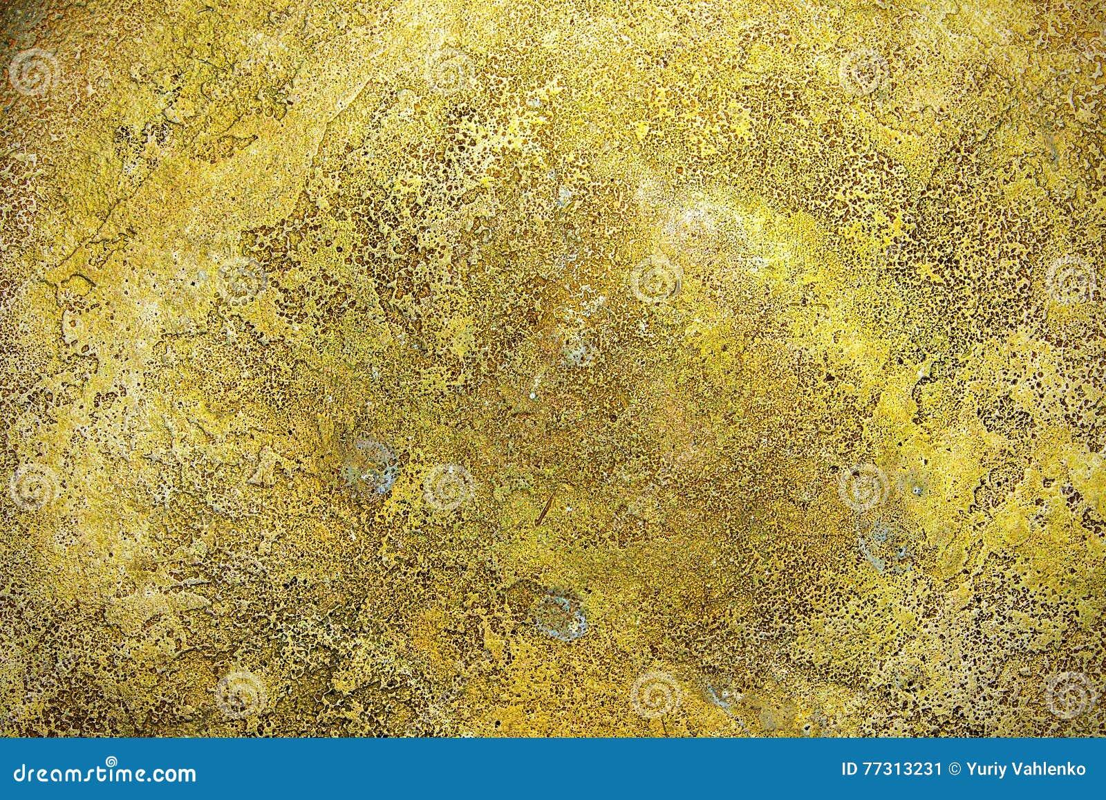 Struttura della superficie di metallo antica dell 39 oro for Carta da parati oro