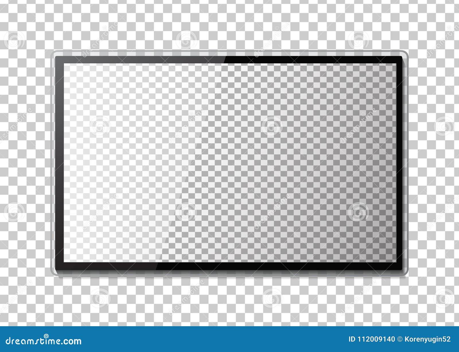 Struttura della TV Svuoti il monitor principale del computer o del telaio nero della foto