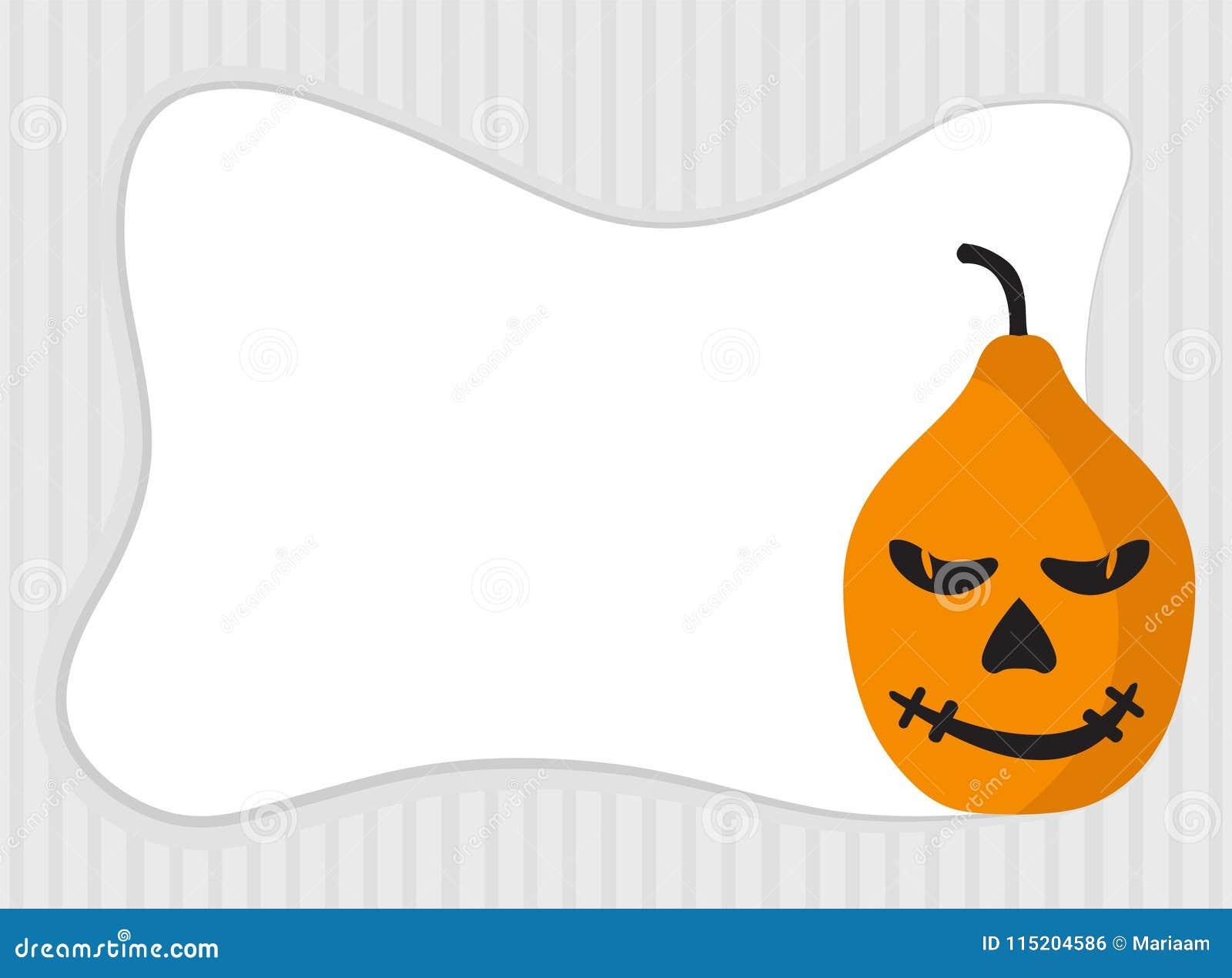 Facce Zucche Di Halloween.Struttura Della Zucca Di Halloween Con Lo Spazio Della Copia