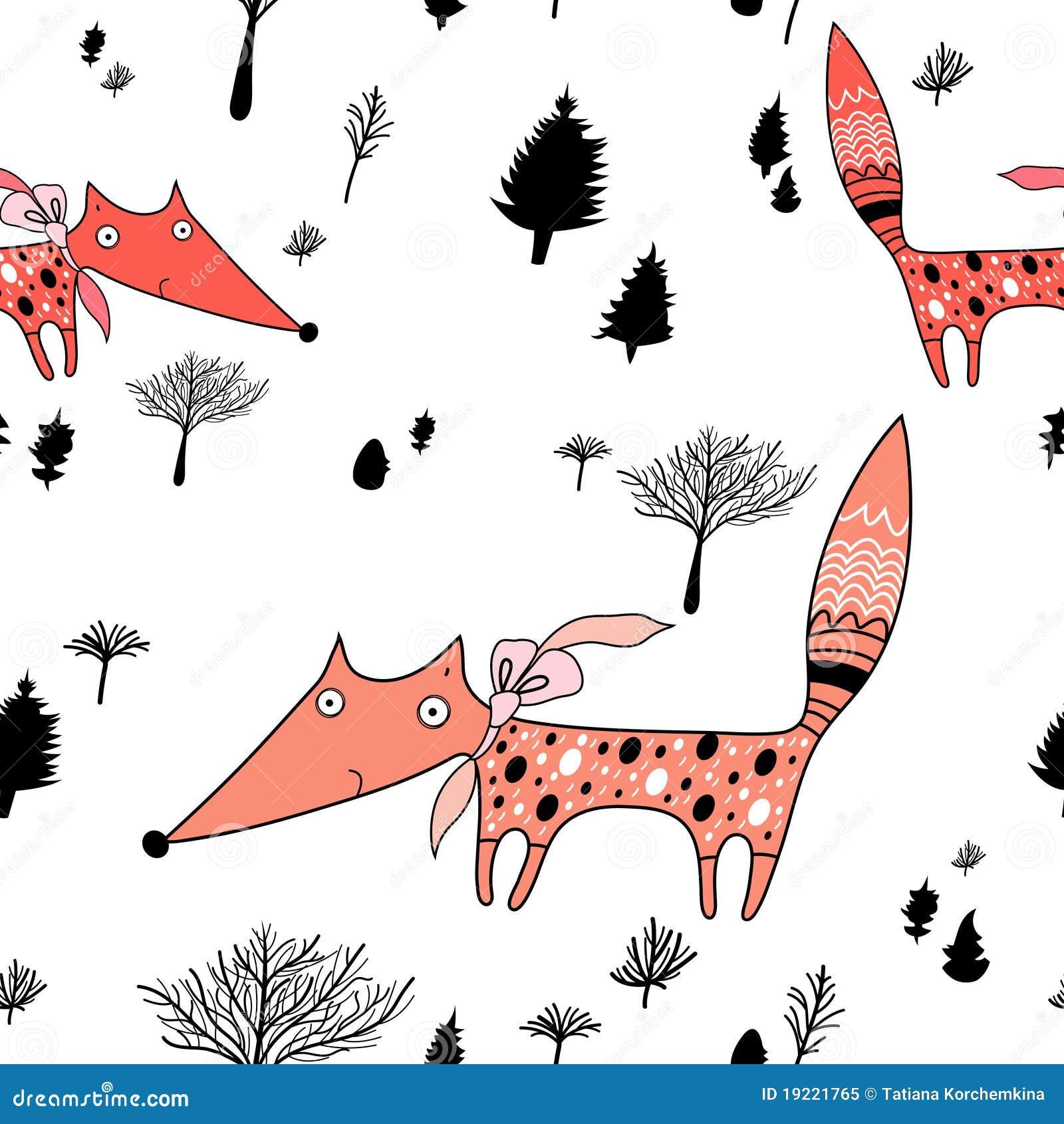 Struttura delle volpi nella foresta
