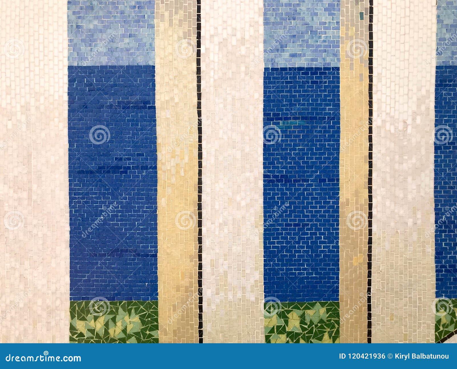 Struttura di bello mosaico variopinto ordinato puro brillante beige
