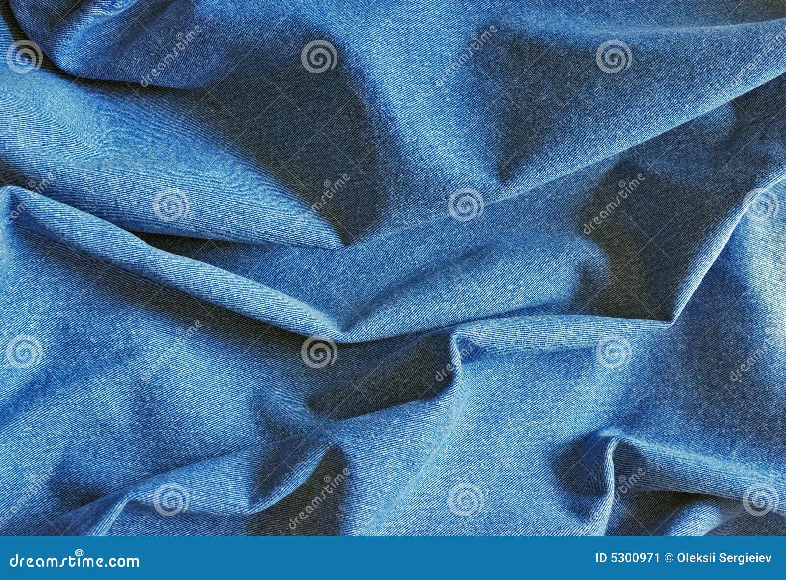 Download Struttura di cotone blu immagine stock. Immagine di modello - 5300971