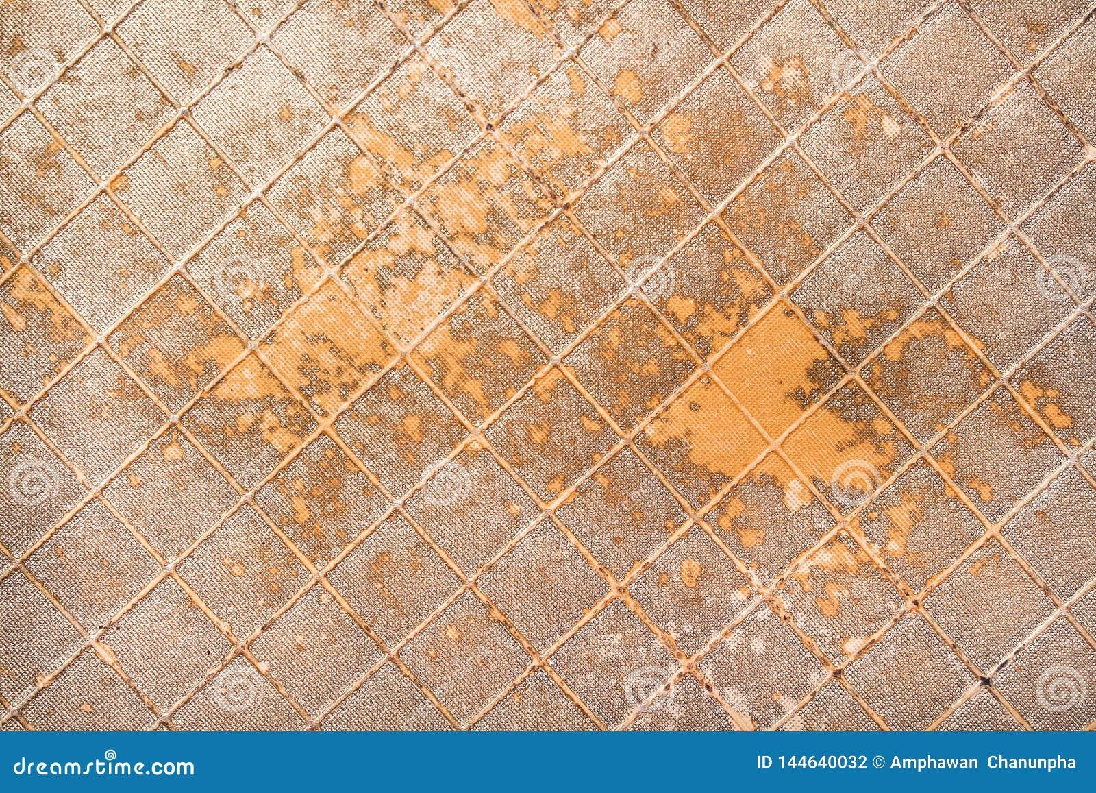 Struttura di cuoio del vecchio oro artificiale per fondo