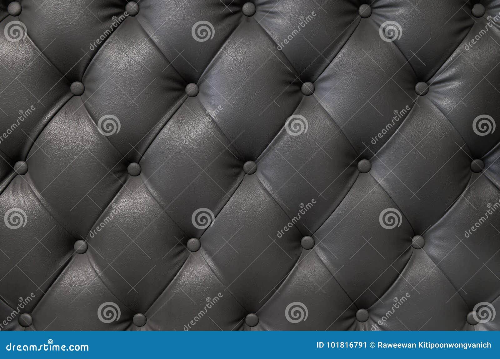 Struttura di cuoio nera elegante con i bottoni per il modello ed il fondo
